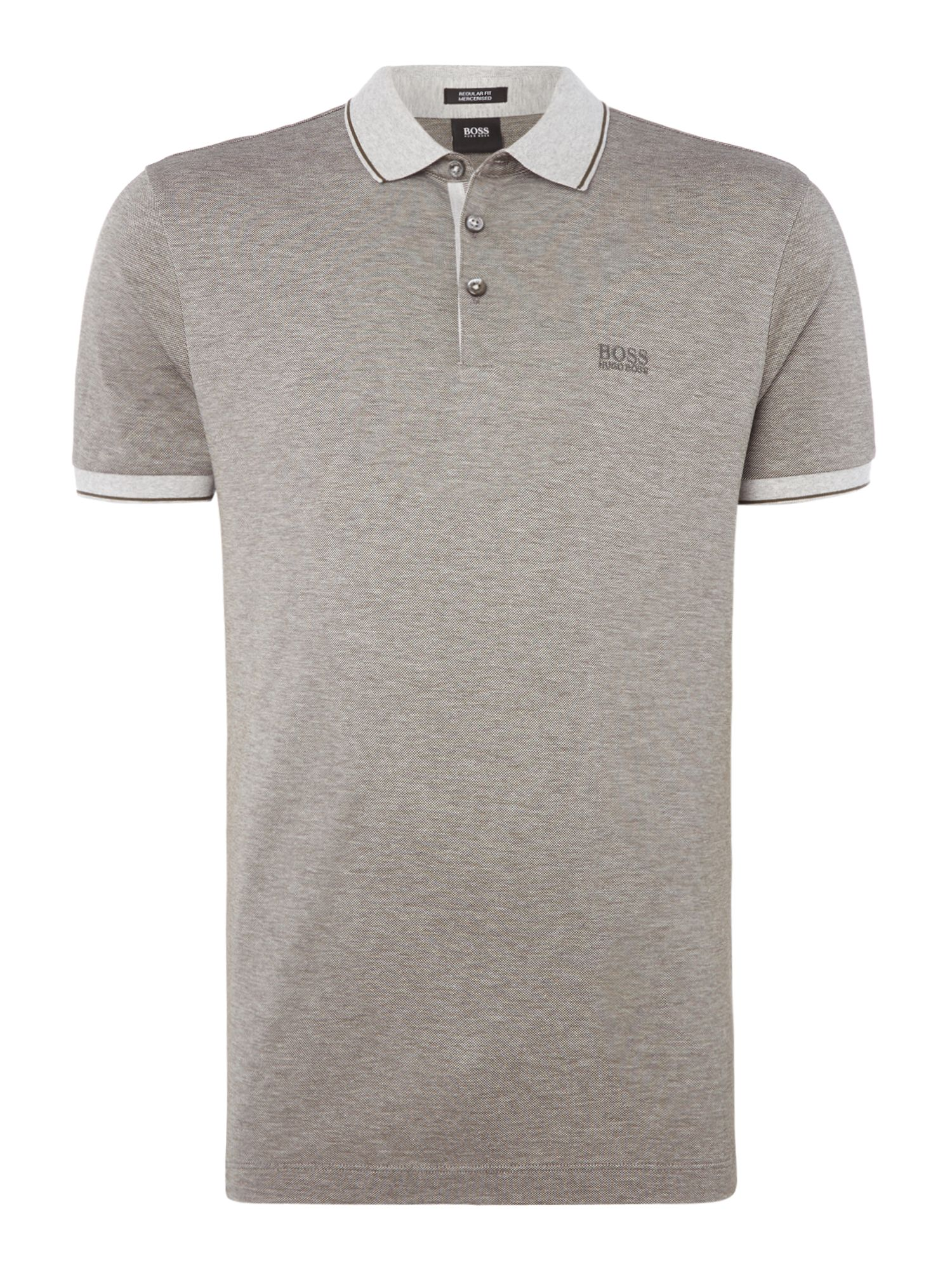 Men's Hugo Boss Prout 10 mercerised logo polo shirt, Grey