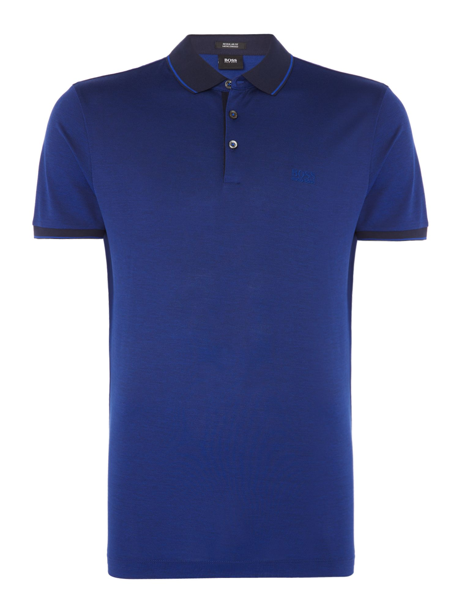 Men's Hugo Boss Prout 10 mercerised logo polo shirt, Blue