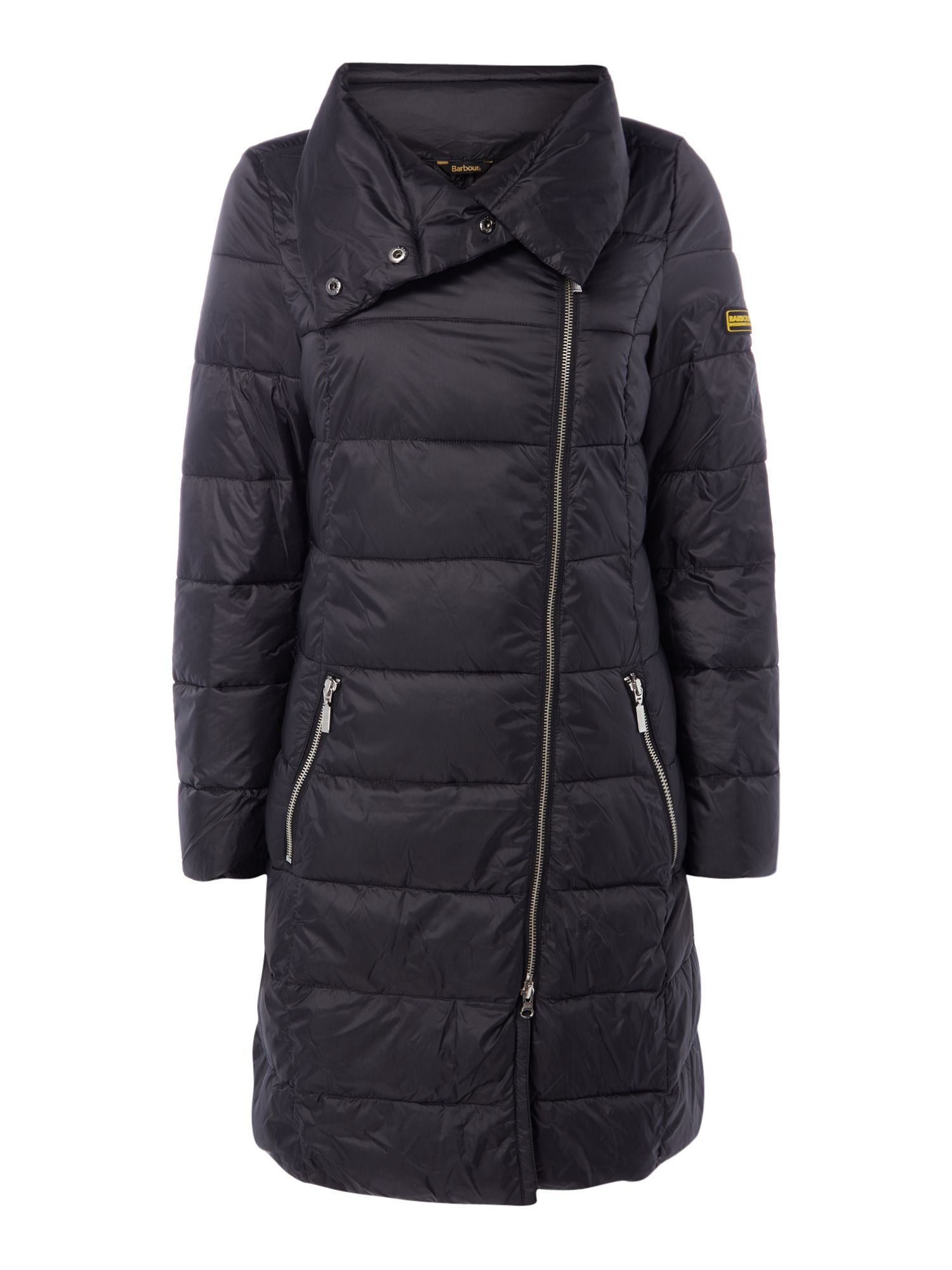 Barbour Mallory Long Quilt Coat, Black