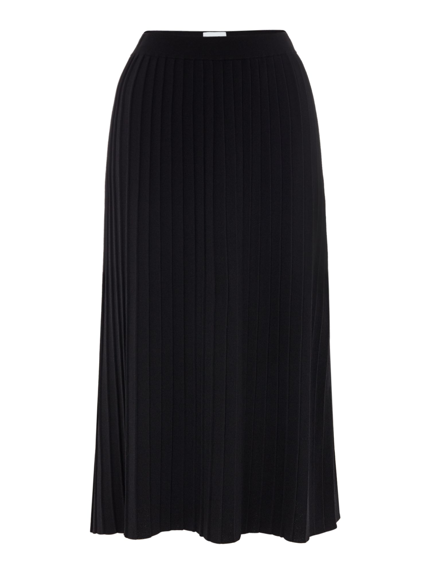 Linea Anna Knitted Pleated Skirt, Black