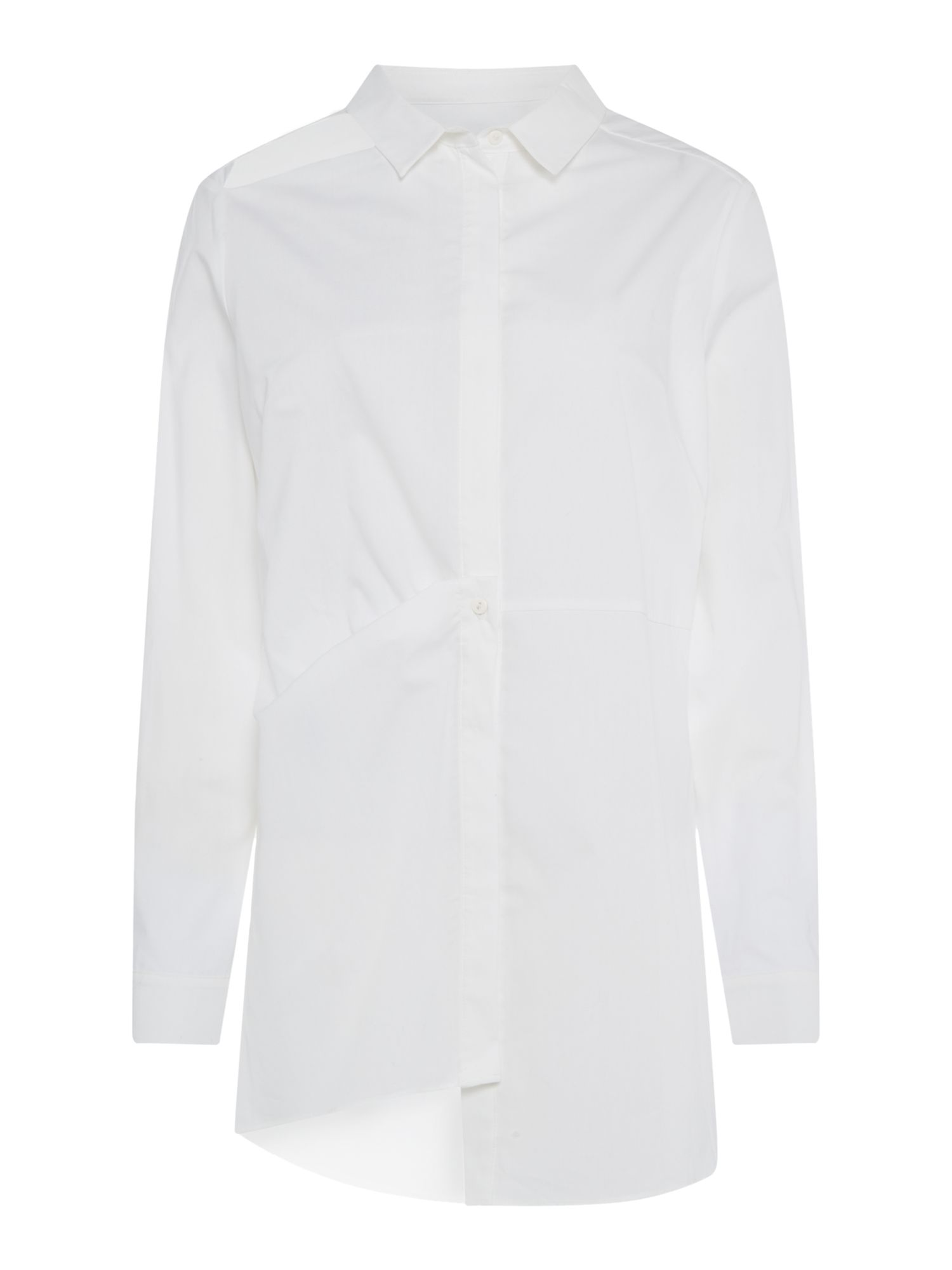 Label Lab White Step Hem Shirt, White