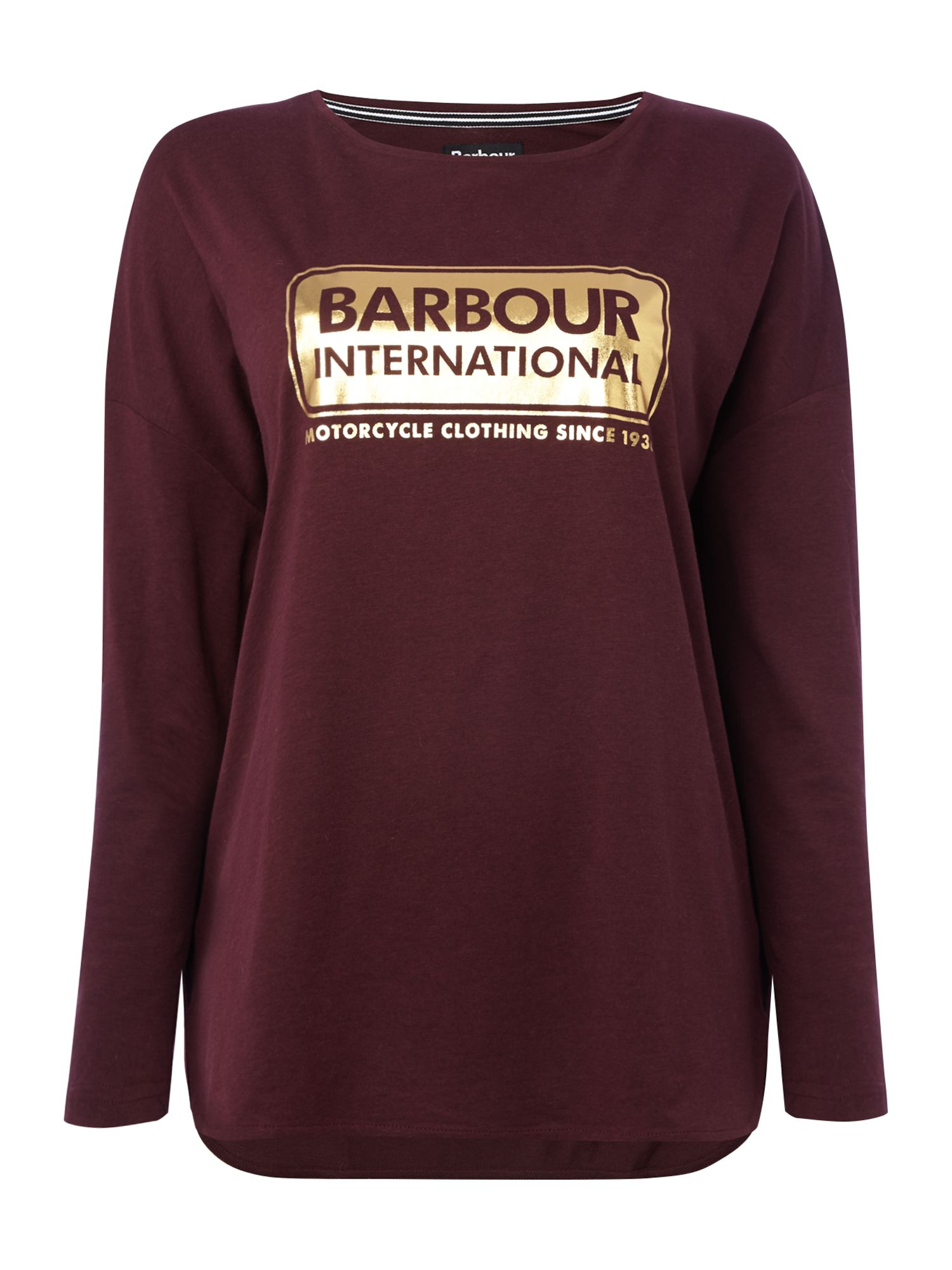 Barbour Exclusive Mallory Long Sleeve Tee, Wine