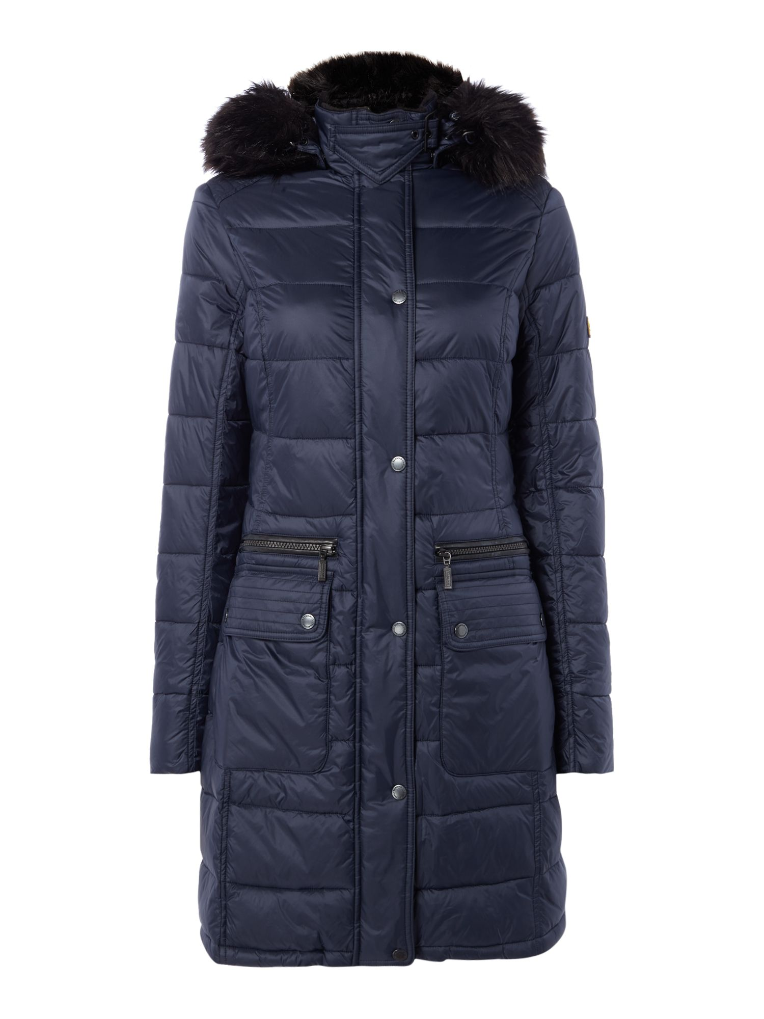 Barbour International Dunnet Quilted Jacket, Blue