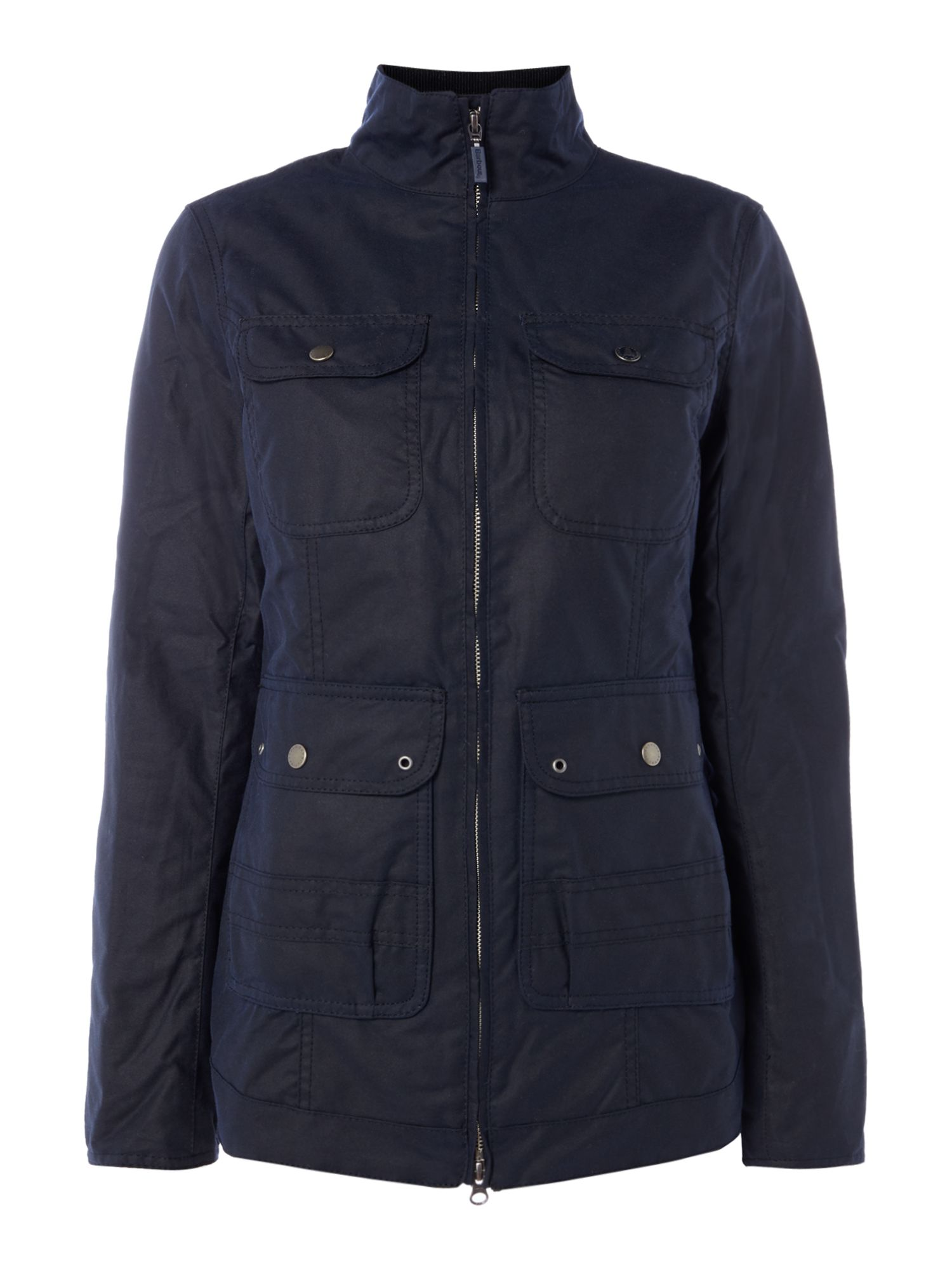 Barbour Filey Wax Jacket, Dark Blue