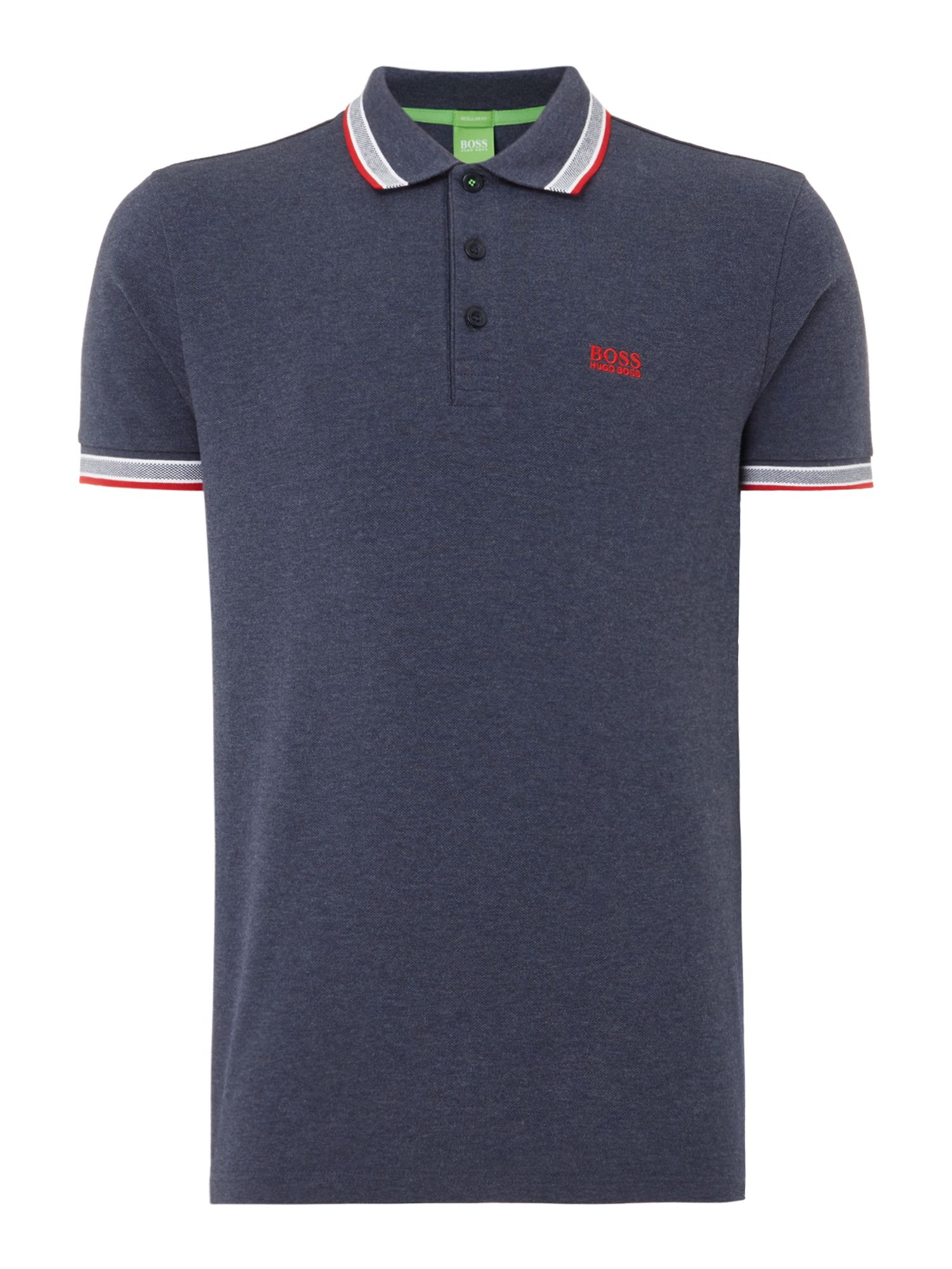 Men's Hugo Boss Paddy Short Sleeve Polo Shirt, Blue