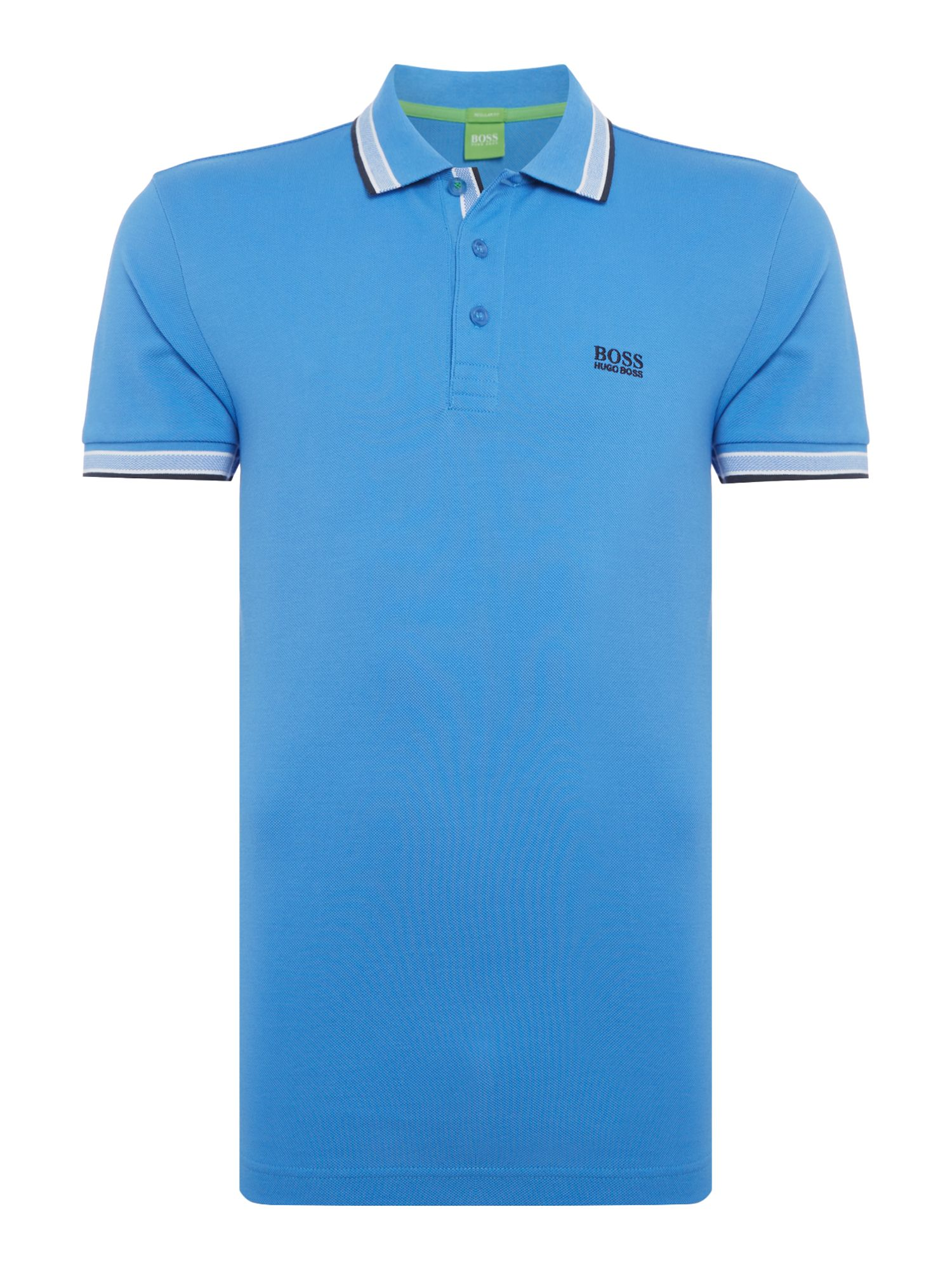Men's Hugo Boss Paddy Short Sleeve Polo Shirt, Light Blue