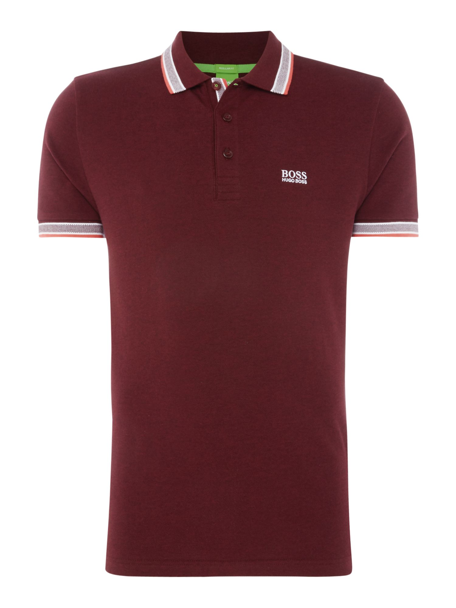 Men's Hugo Boss Paddy Short Sleeve Polo Shirt, Red Marl