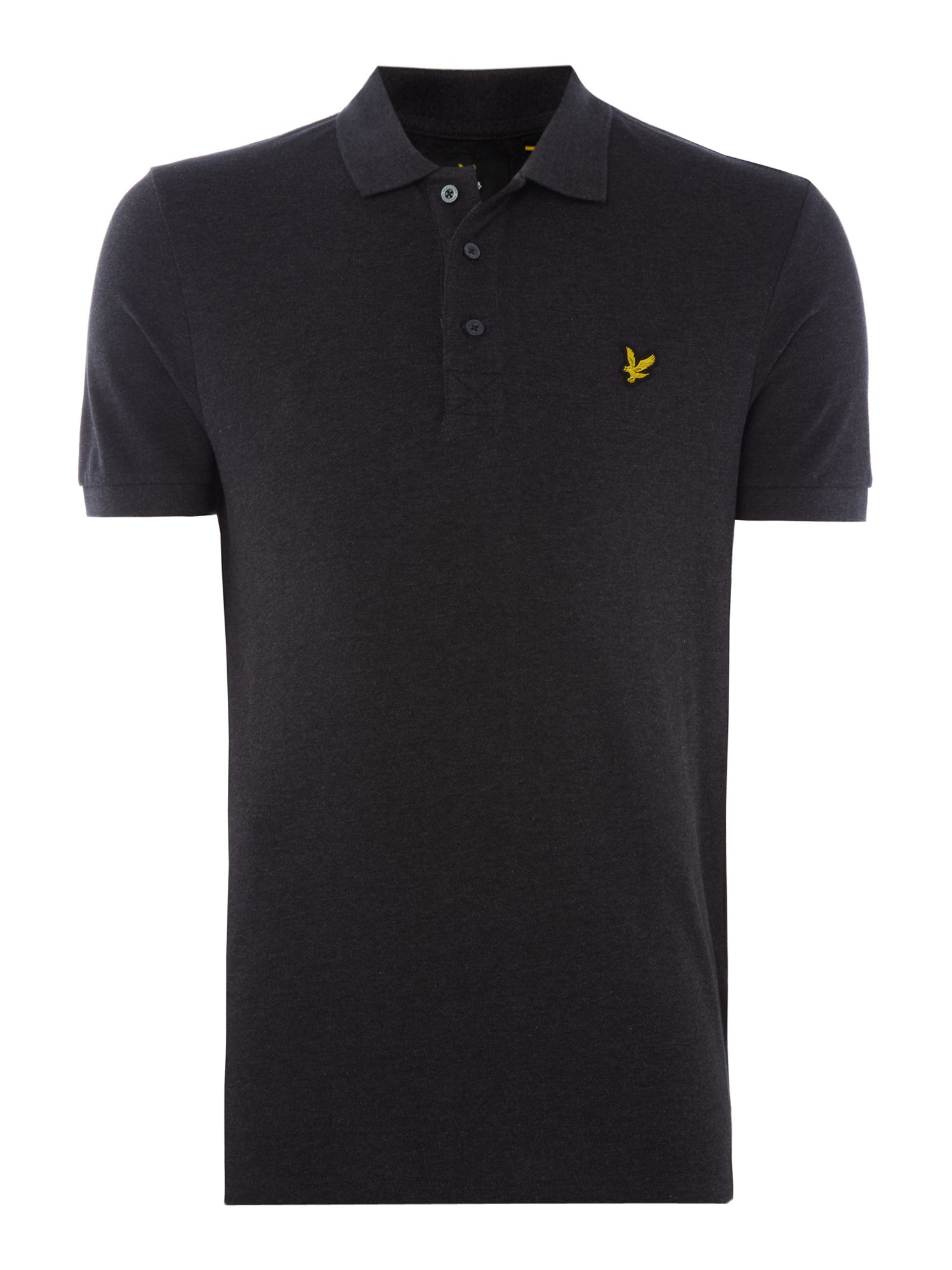 Men's Lyle and Scott Short Sleeve Classic Polo, Charcoal Marl