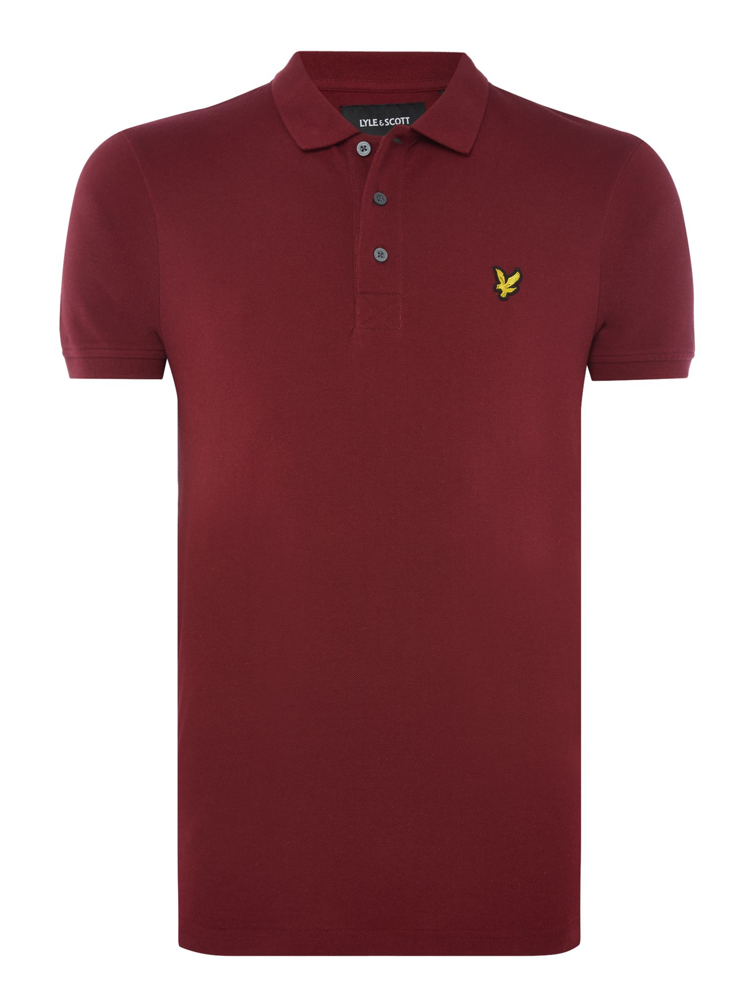 Men's Lyle and Scott Short Sleeve Classic Polo, Claret