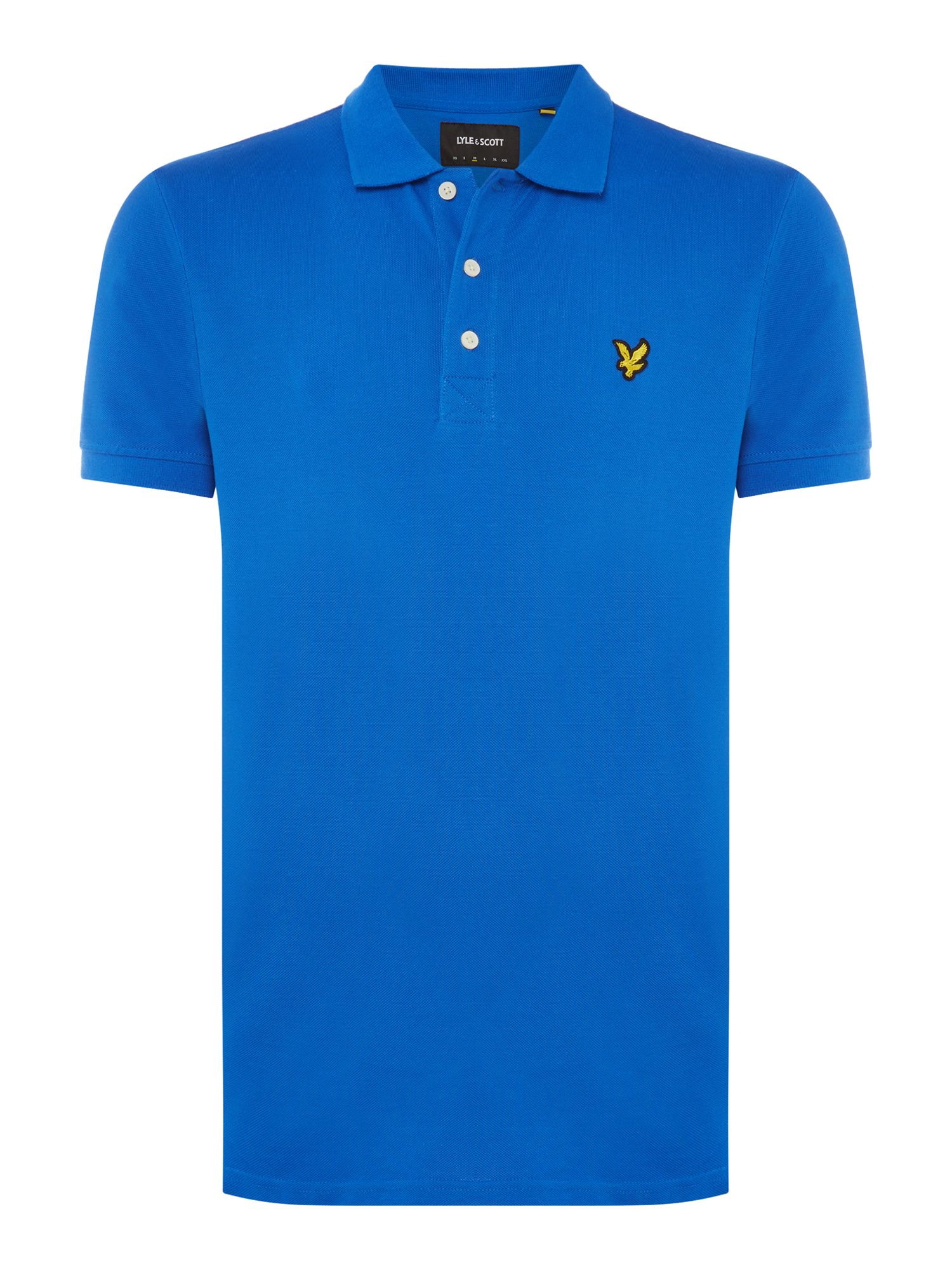 Men's Lyle and Scott Short Sleeve Classic Polo, Bright Blue