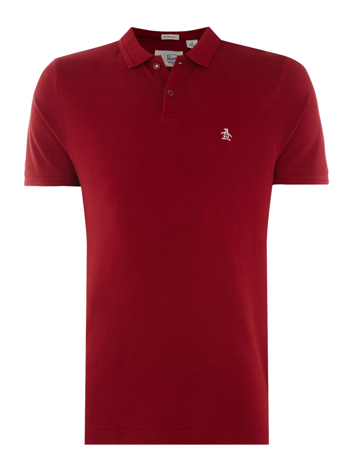 Men's Original Penguin Raised Rib Polo Shirt, Crimson