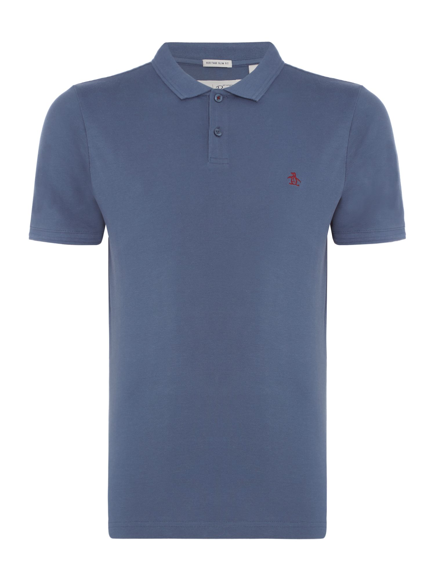 Men's Original Penguin Raised Rib Polo Shirt, Indigo