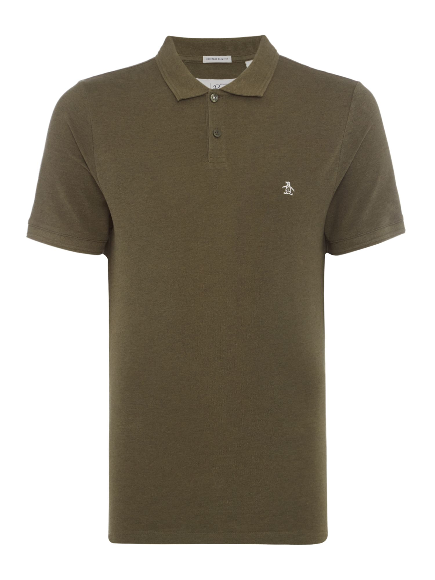 Men's Original Penguin Raised Rib Polo Shirt, Khaki