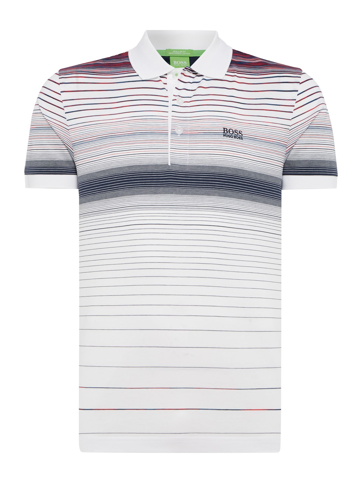 Men's Hugo Boss Paddy 3 Gradient stripe polo, White