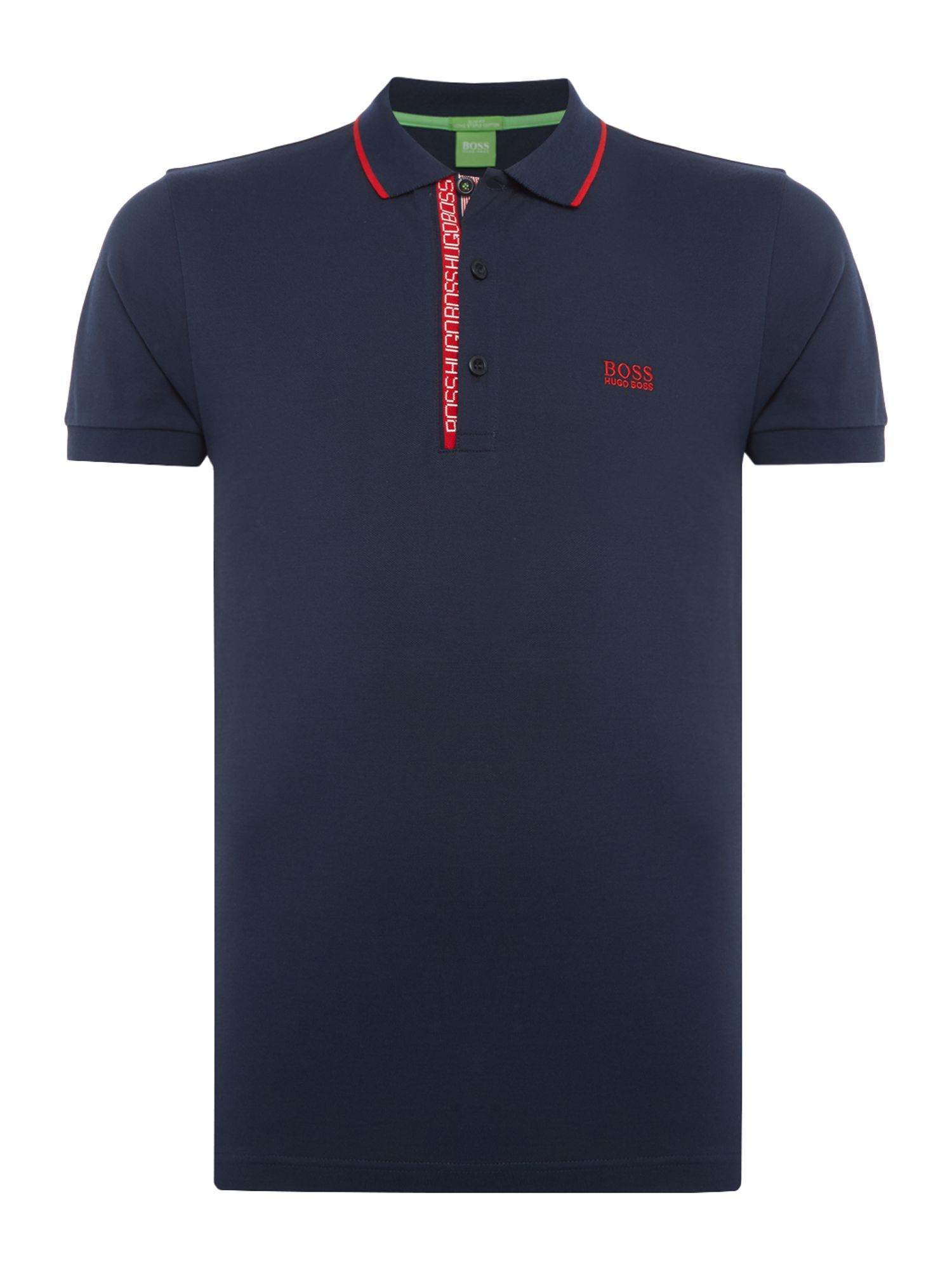 Men's Hugo Boss Paule 4 slim fit oxford polo, Blue