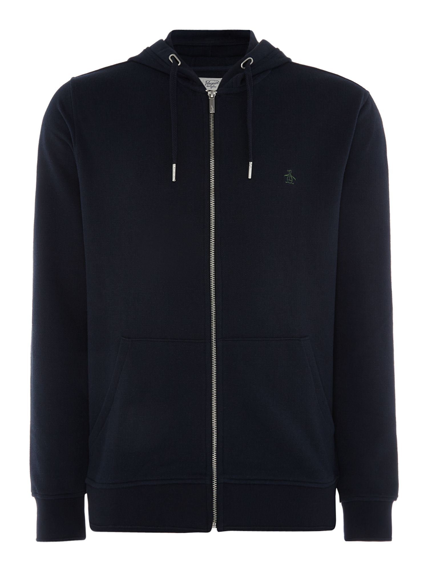 Men's Original Penguin Raised Rib Pique Hoody, Blue