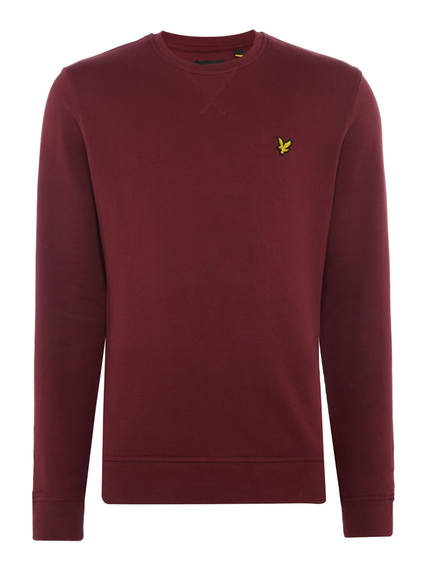 Men's Lyle and Scott Crew Neck Sweatshirt, Claret