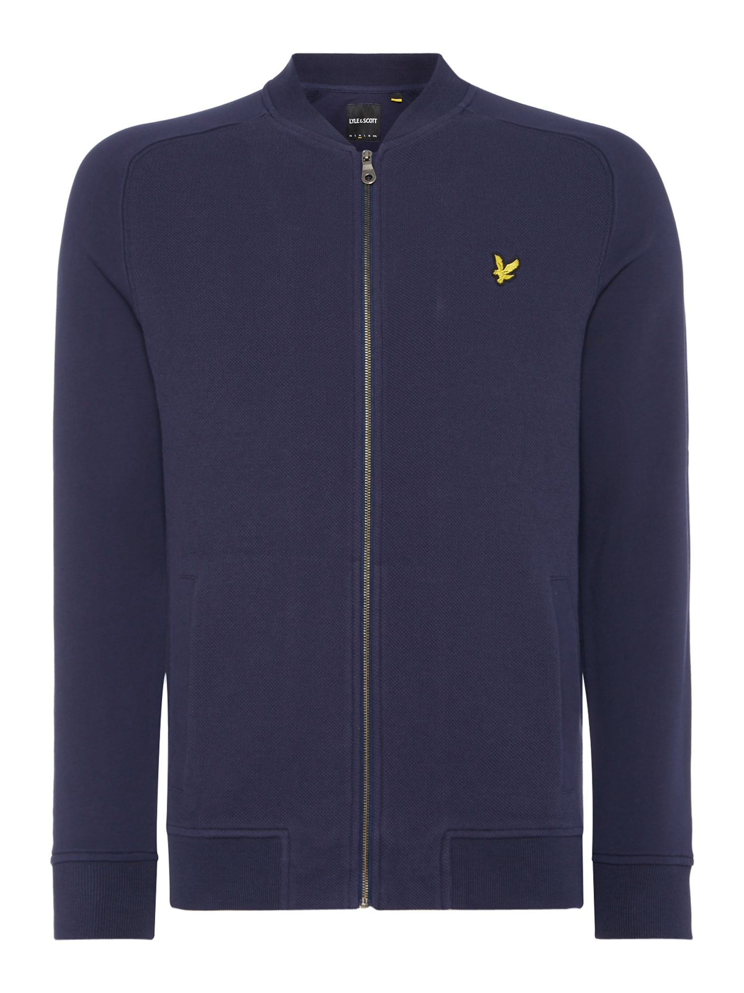 Men's Lyle and Scott Honeycomb bomber sweat, Blue