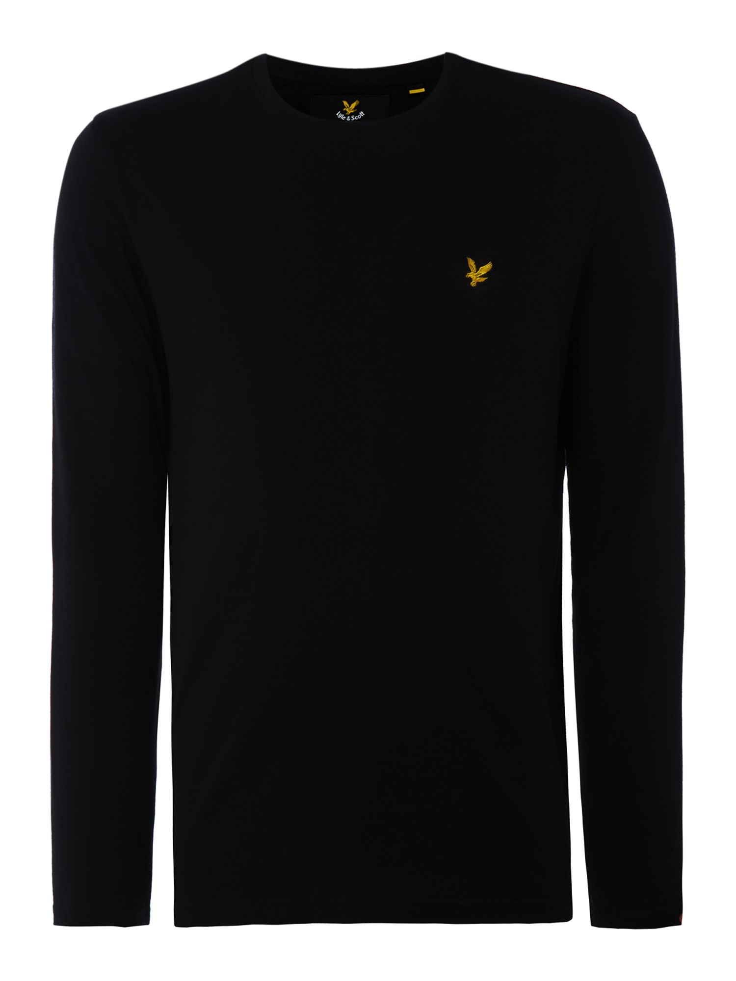 Men's Lyle and Scott Long Sleeve Classic Crew Neck T-Shirt, Black