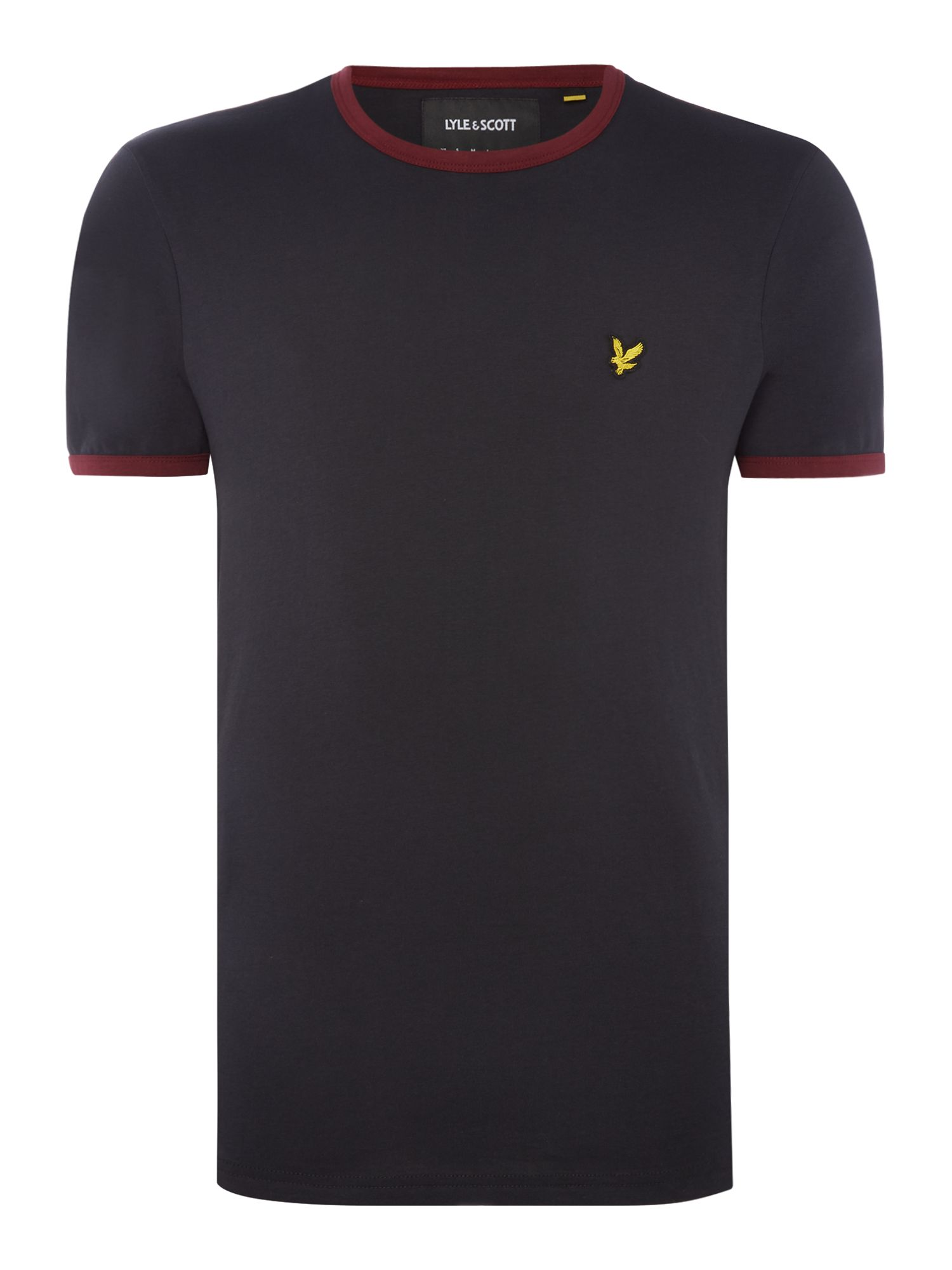 Men's Lyle and Scott Ringer crew neck short sleeve t-shirt, Black