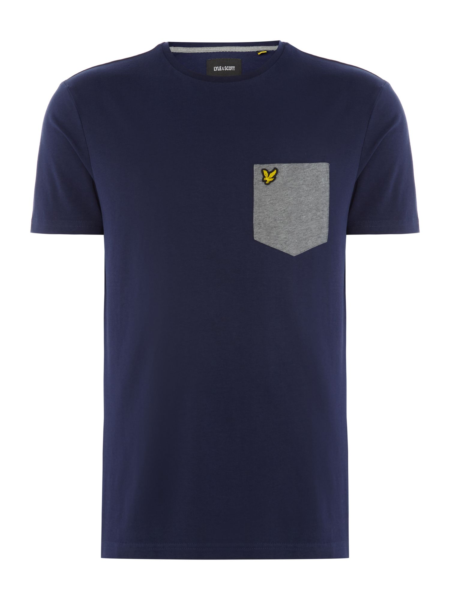 Men's Lyle and Scott Contrast pocket t-tshirt, French Blue