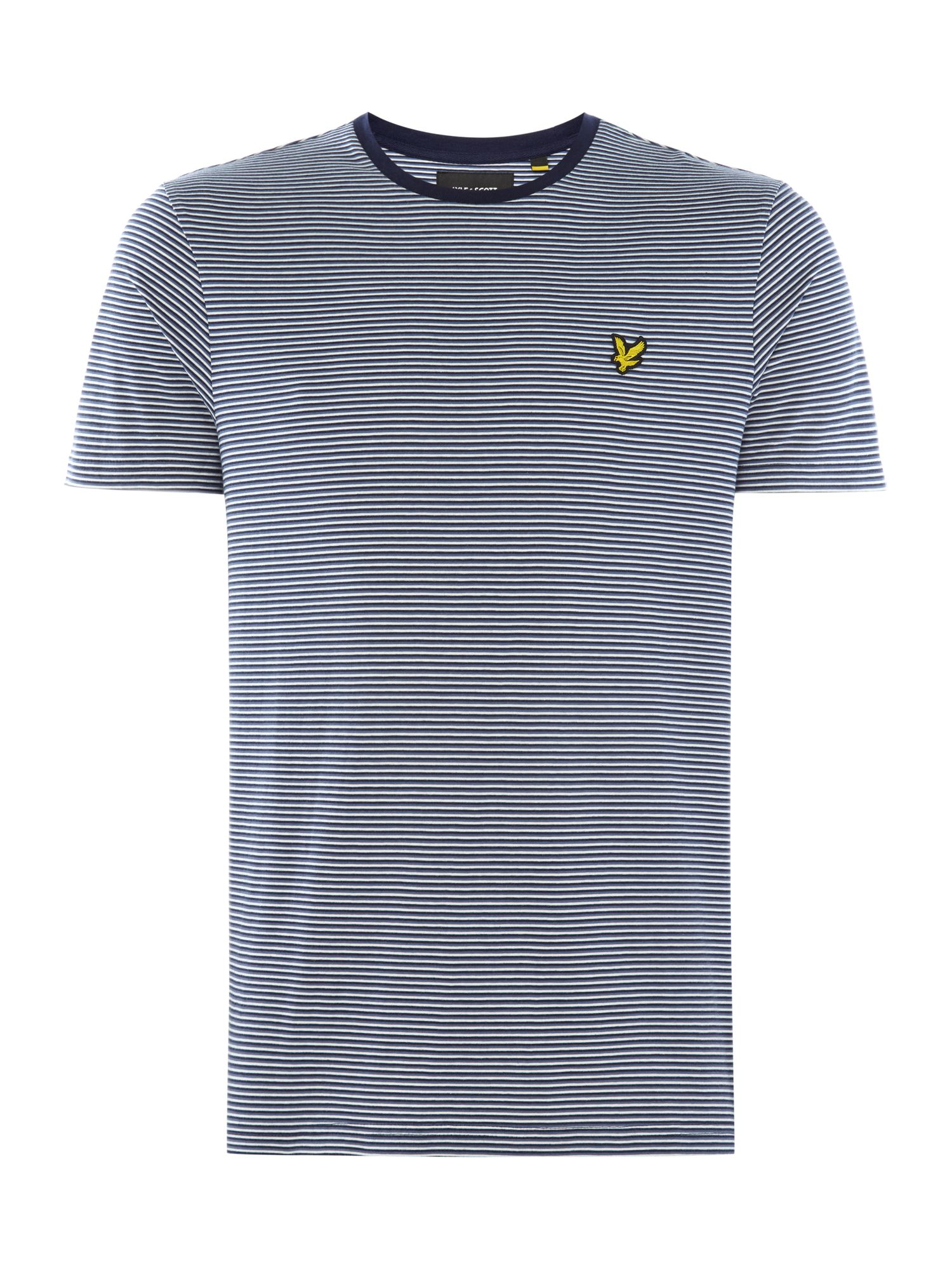 Men's Lyle and Scott Feeder stripe short sleeve tshirt, Blue