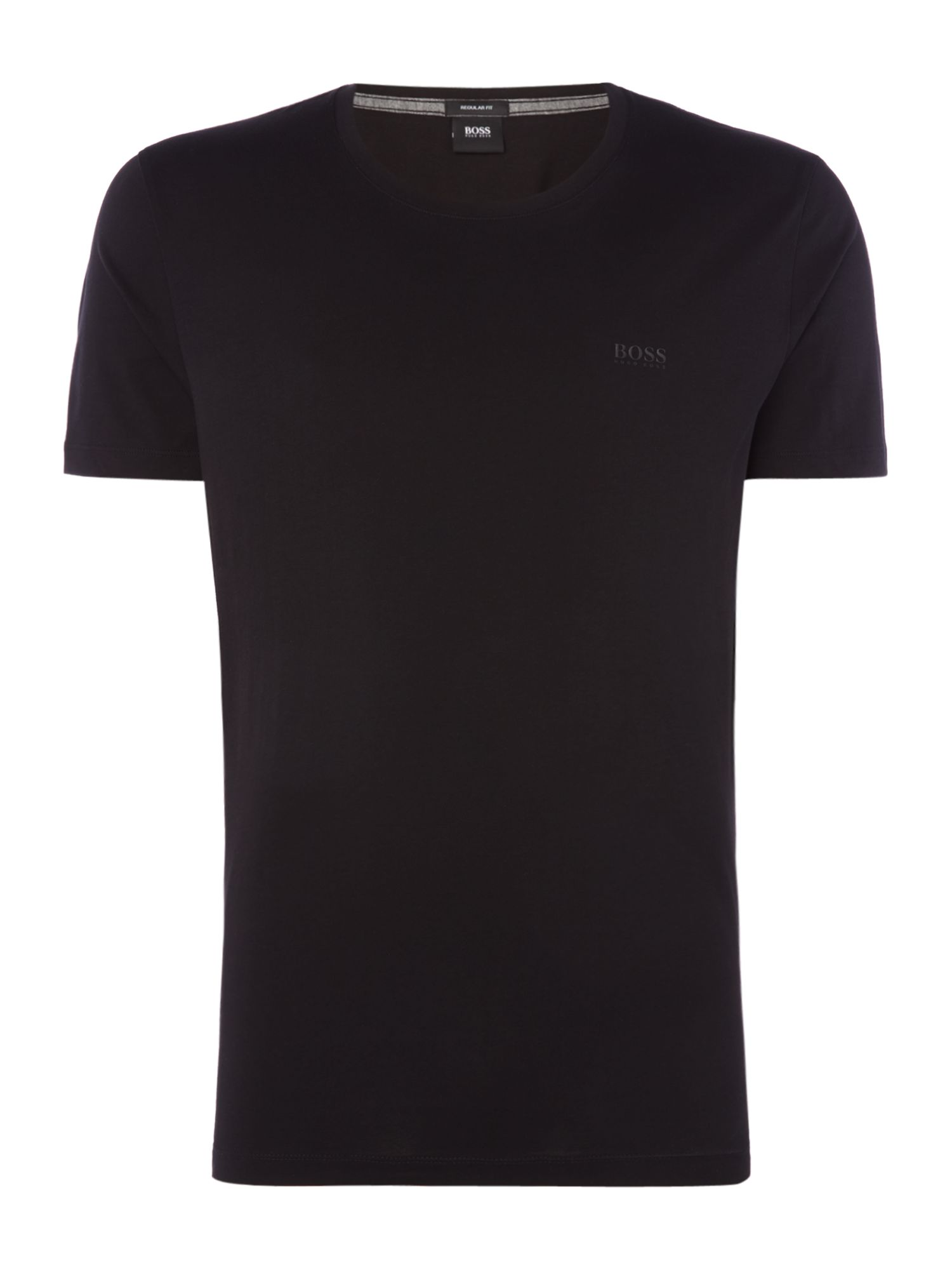Men's Hugo Boss Tiburt liquid logo crew neck t-shirt, Black