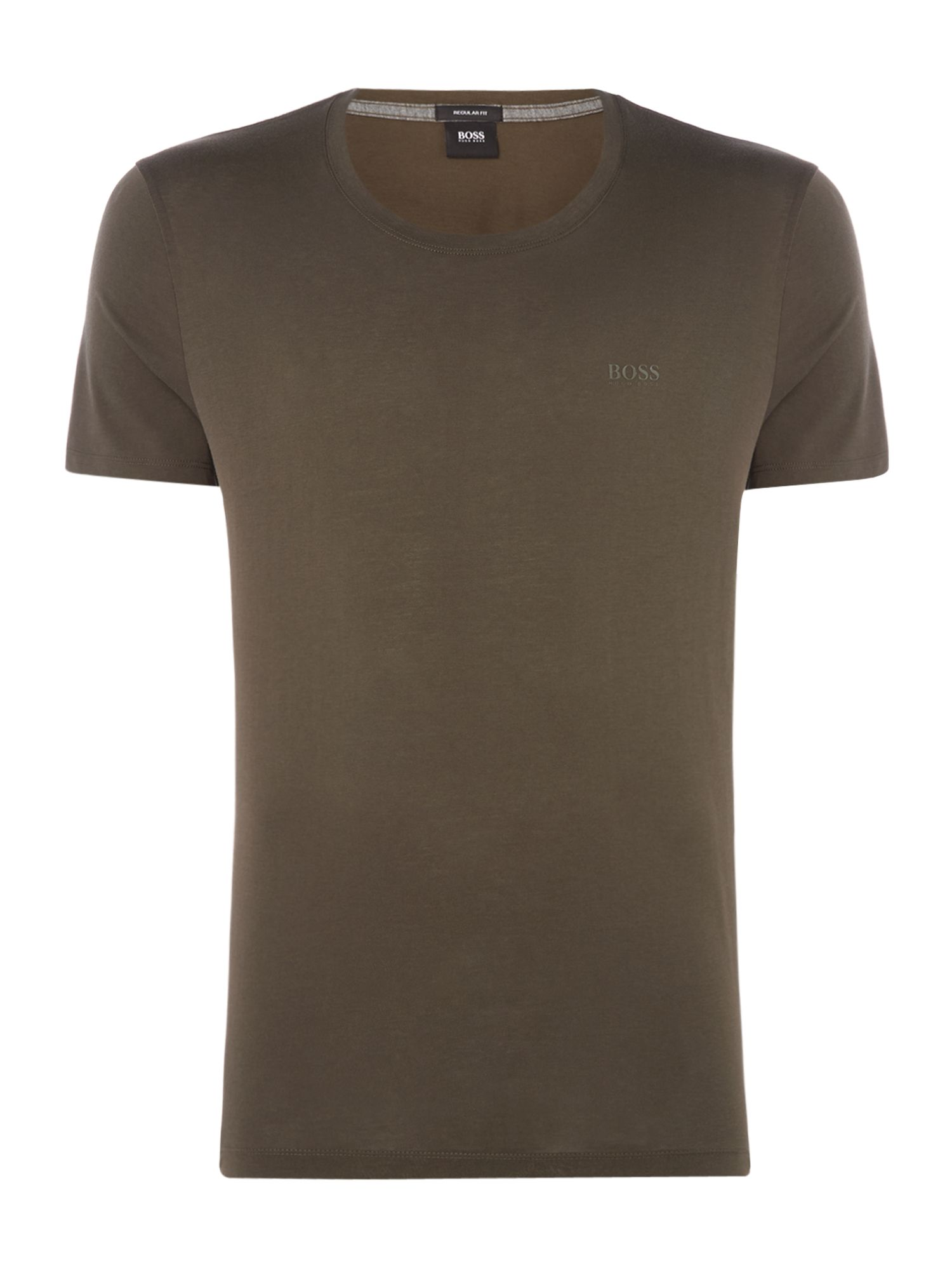 Men's Hugo Boss Tiburt liquid logo crew neck t-shirt, Olive