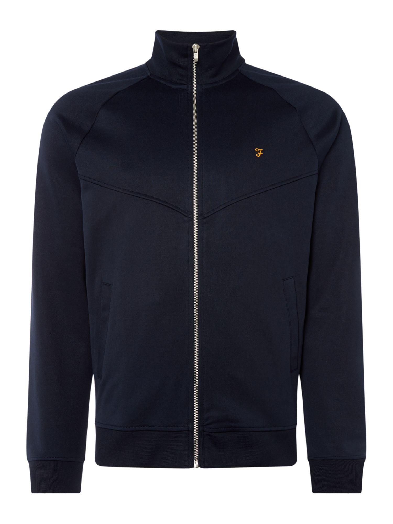 Men's Farah Lancaster Zip Through Sweatshirt, Blue