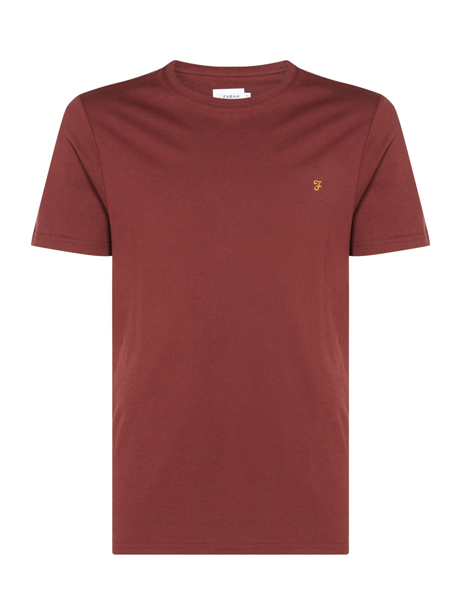 Men's Farah Denny Slim Marl T-Shirt, Red