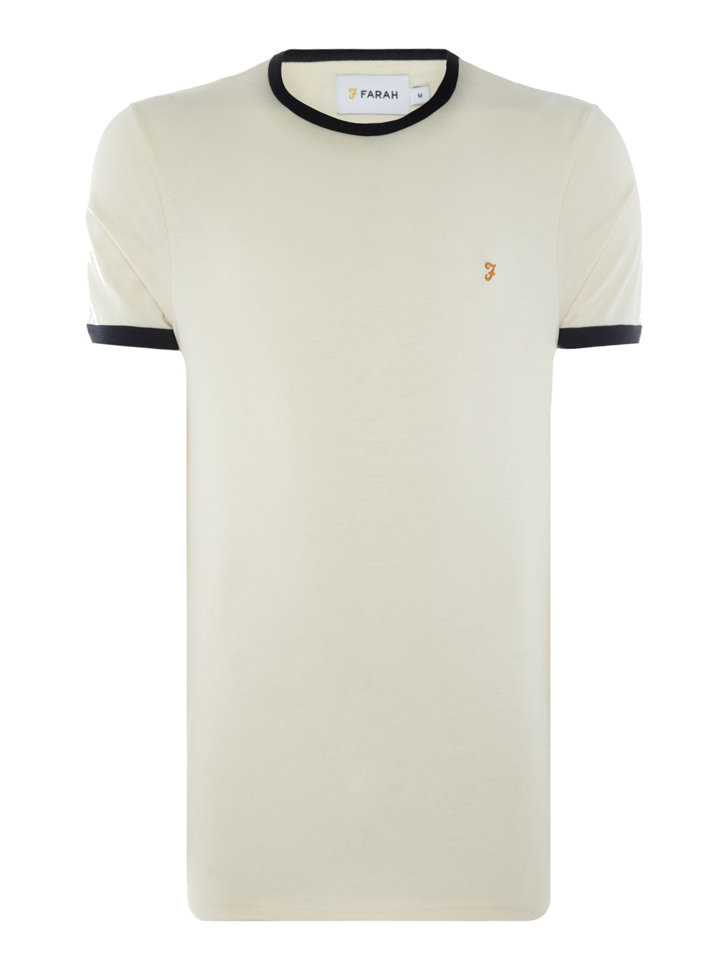Men's Farah Groves Ringer T-Shirt, Ecru
