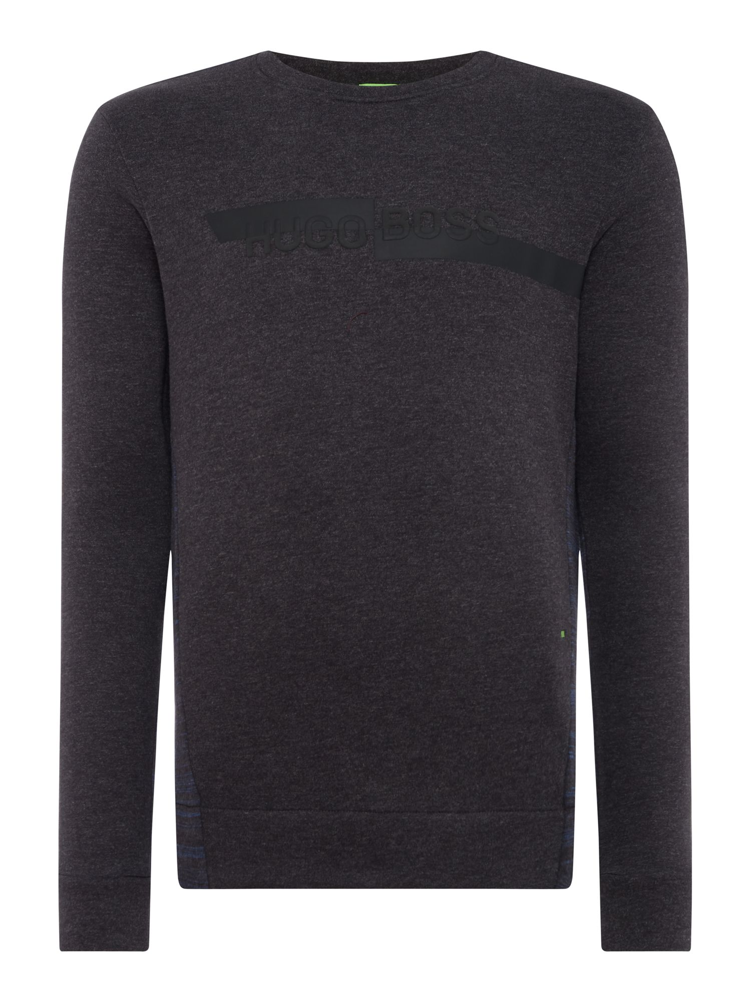 Men's Hugo Boss Salbo 2 Cashmere crew neck sweat, Charcoal