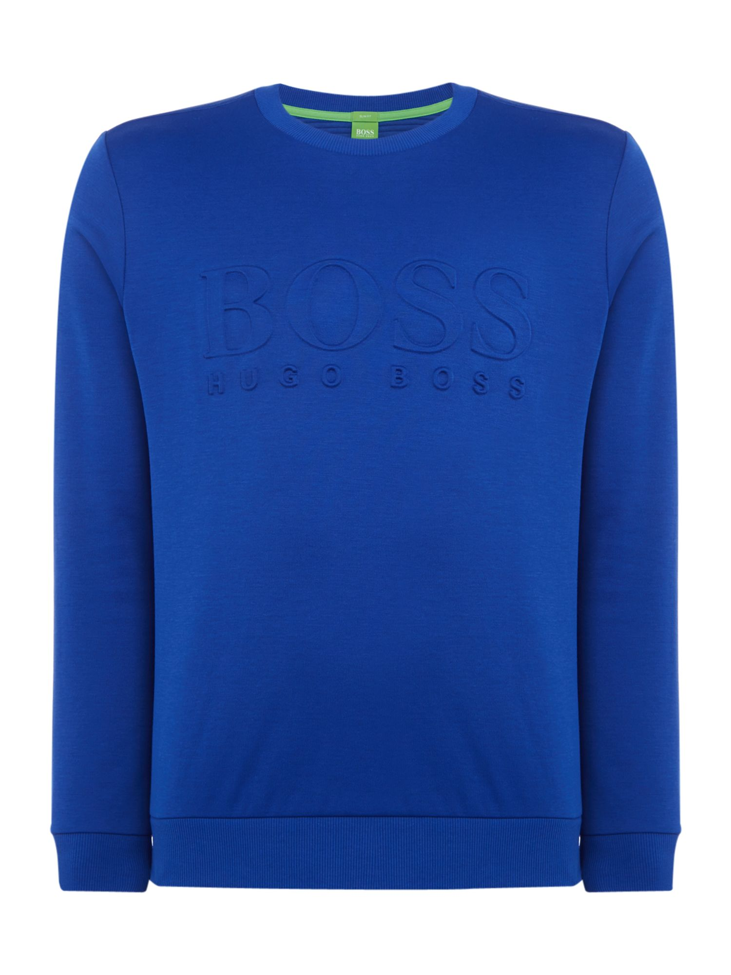 Men's Hugo Boss Salbo crew neck sweatshirt, Blue