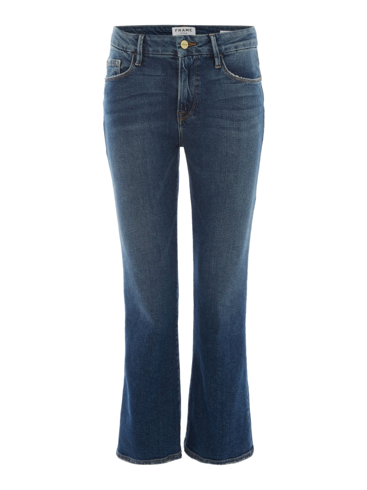 Frame Le Crop Mini Boot Jeans in Elmont, Denim Mid Wash