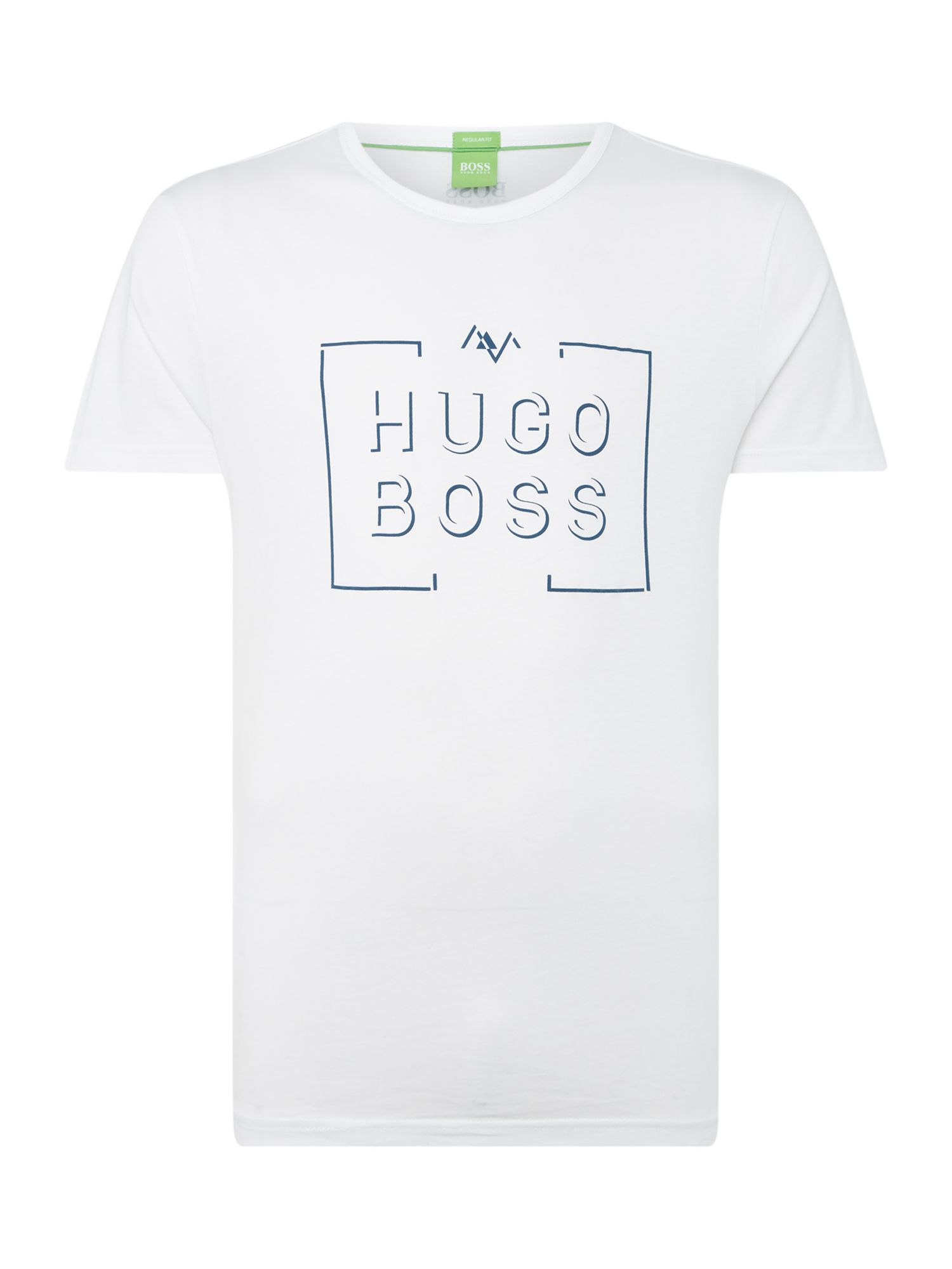 Men's Hugo Boss Box logo crew neck tee, White