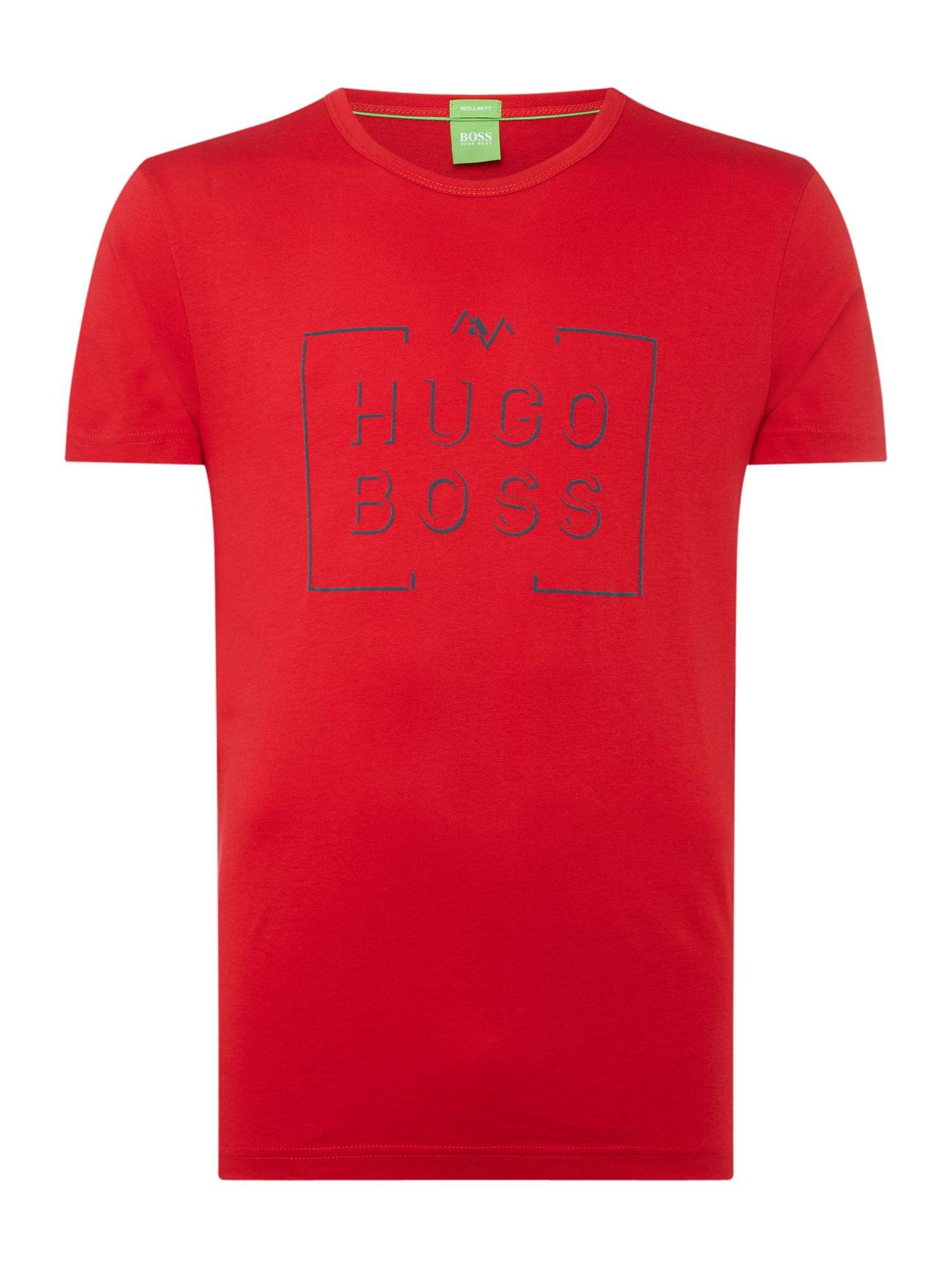 Men's Hugo Boss Box logo crew neck tee, Red