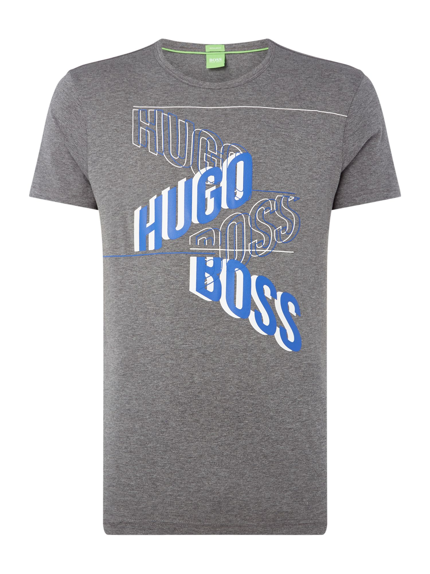 Men's Hugo Boss Large logo tee 2, Grey Marl