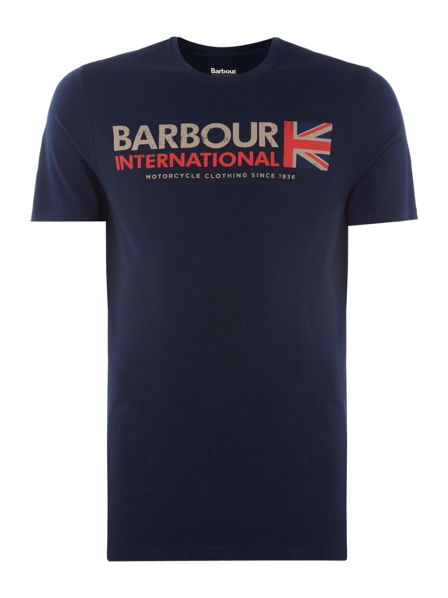 Men's Barbour Flag short sleeve tshirt, Blue