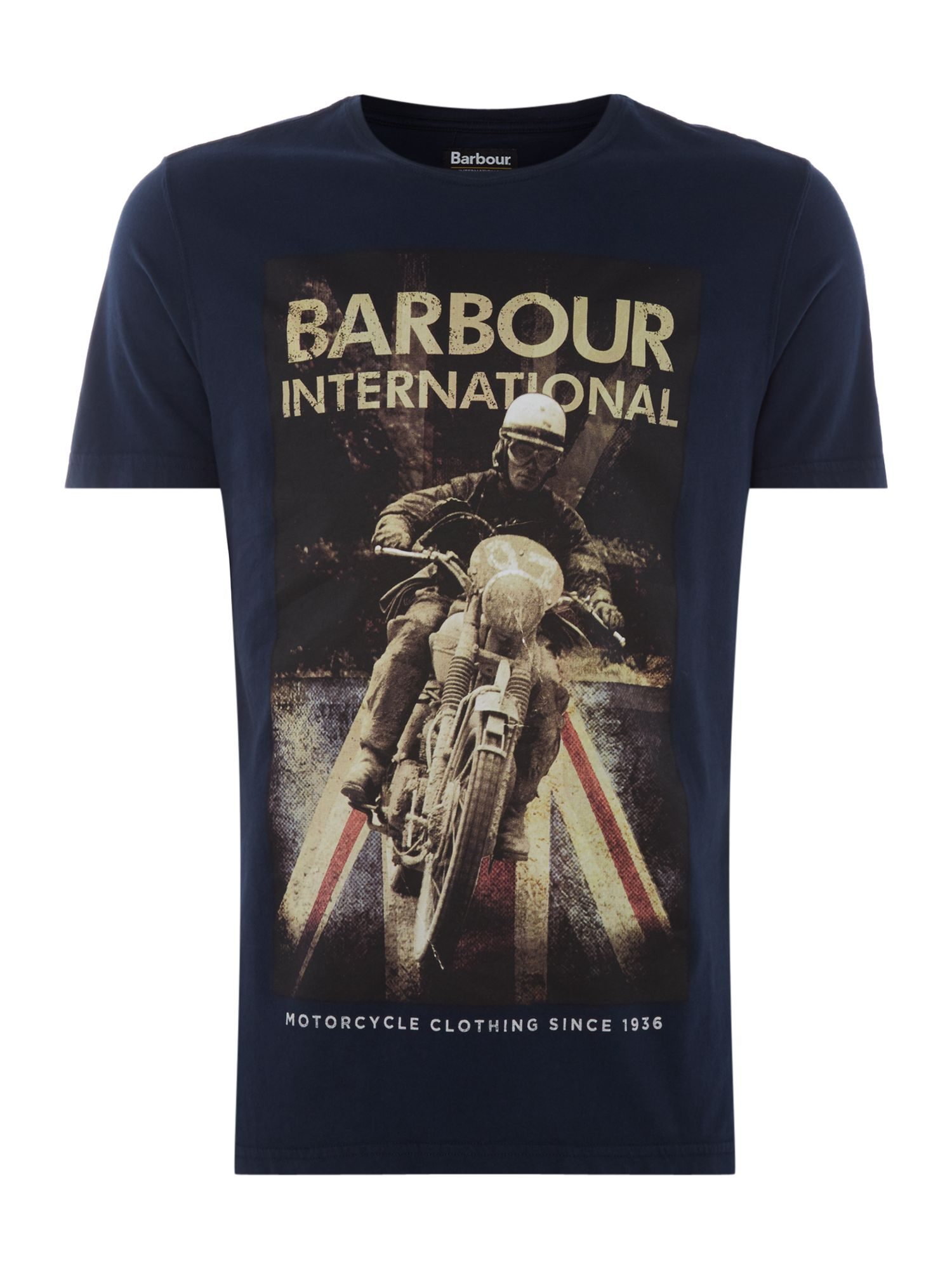 Men's Barbour Shift short sleeve tshirt, Blue