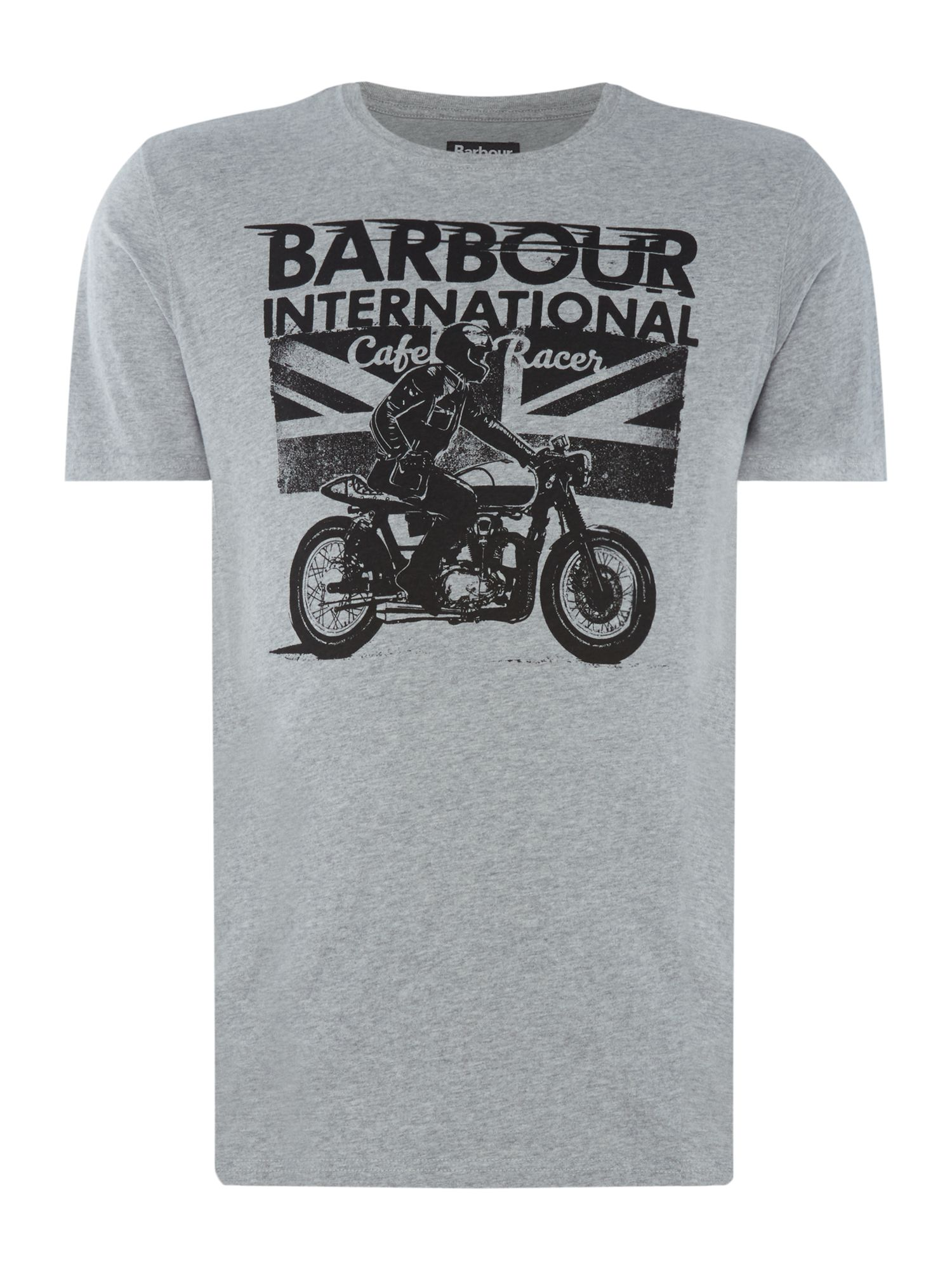 Men's Barbour Cruise short sleeve tshirt, Grey Marl