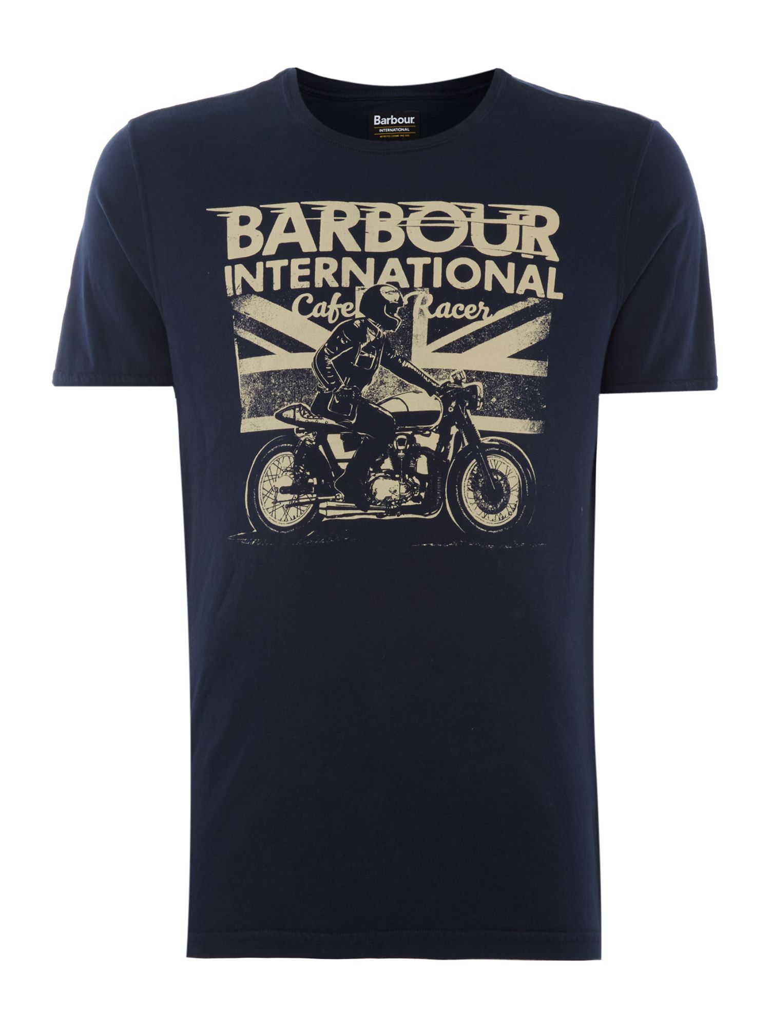 Men's Barbour Cruise short sleeve tshirt, Blue