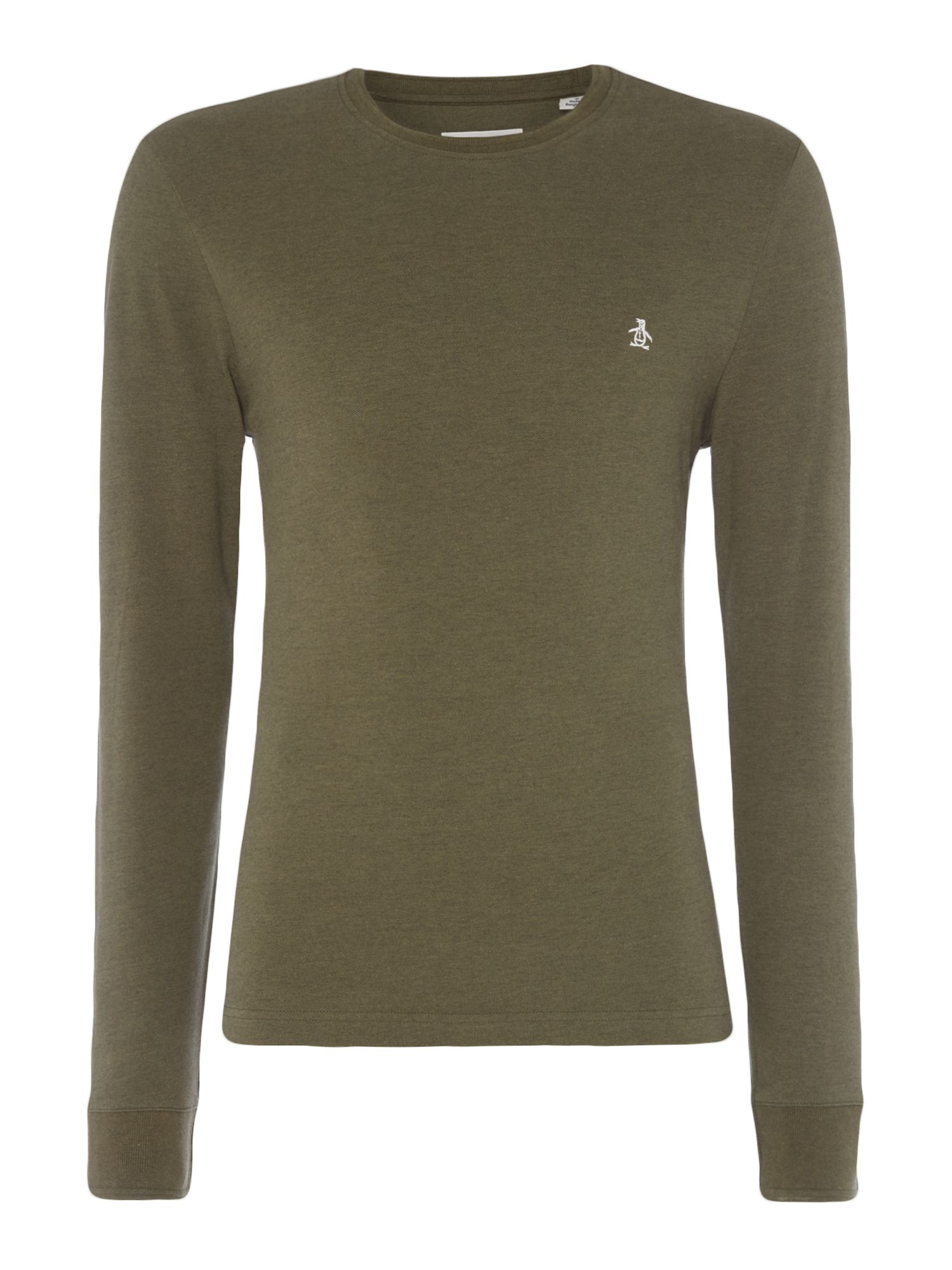 Men's Original Penguin Raised Rib Crew Neck T-Shirt, Khaki