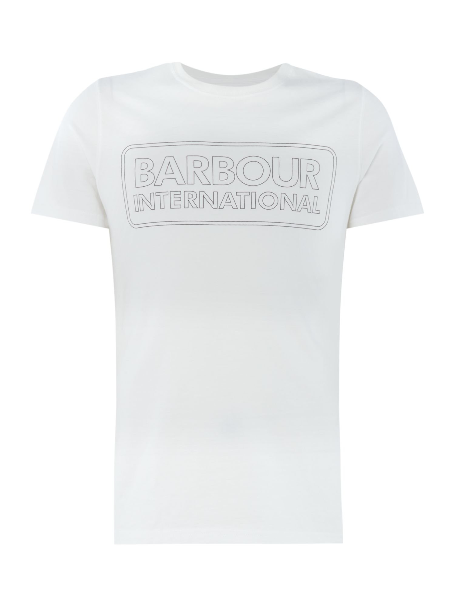 Men's Barbour Duke race short sleeve tshirt, White
