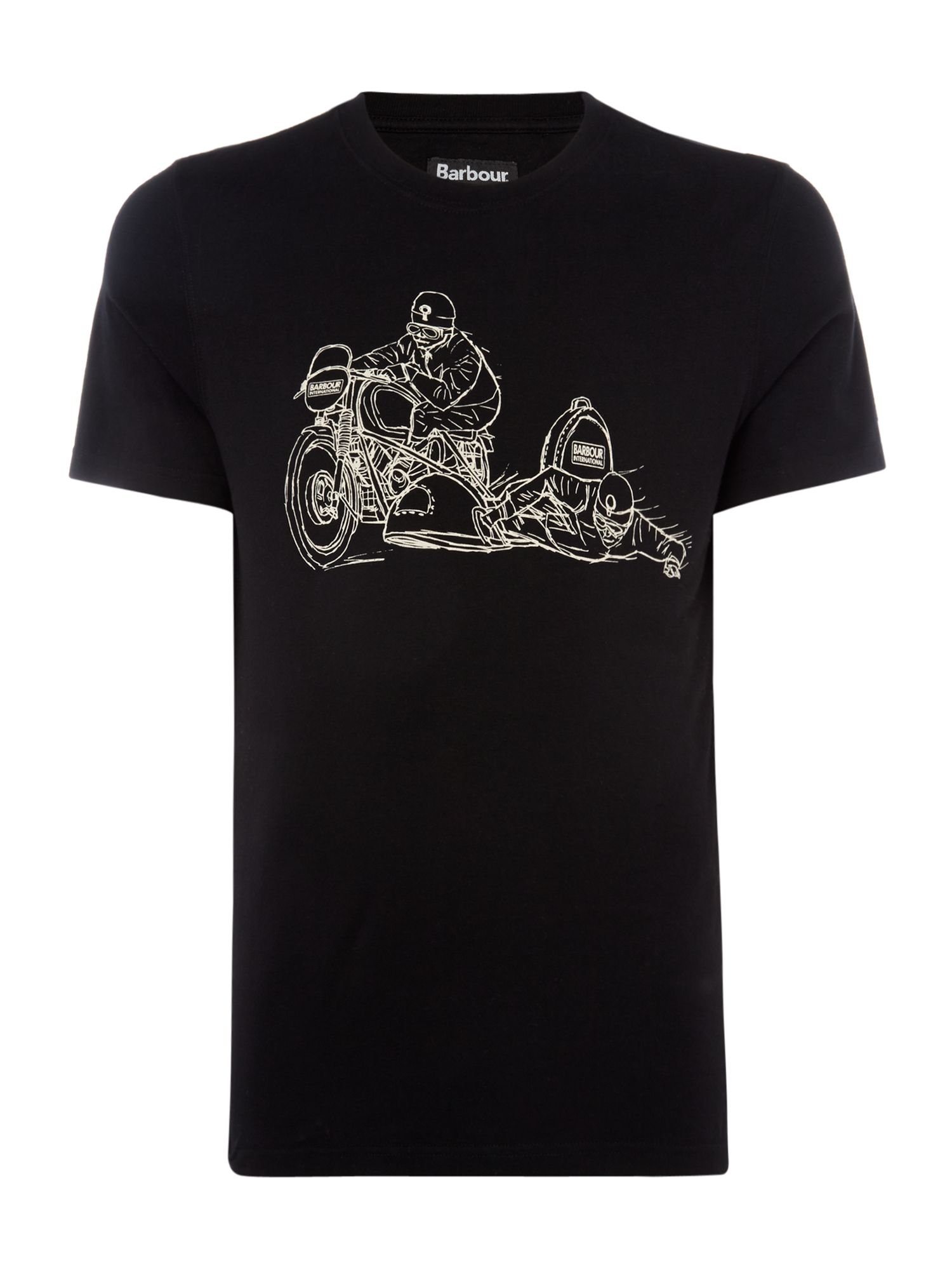 Men's Barbour Side cab short sleeve tshirt, Black