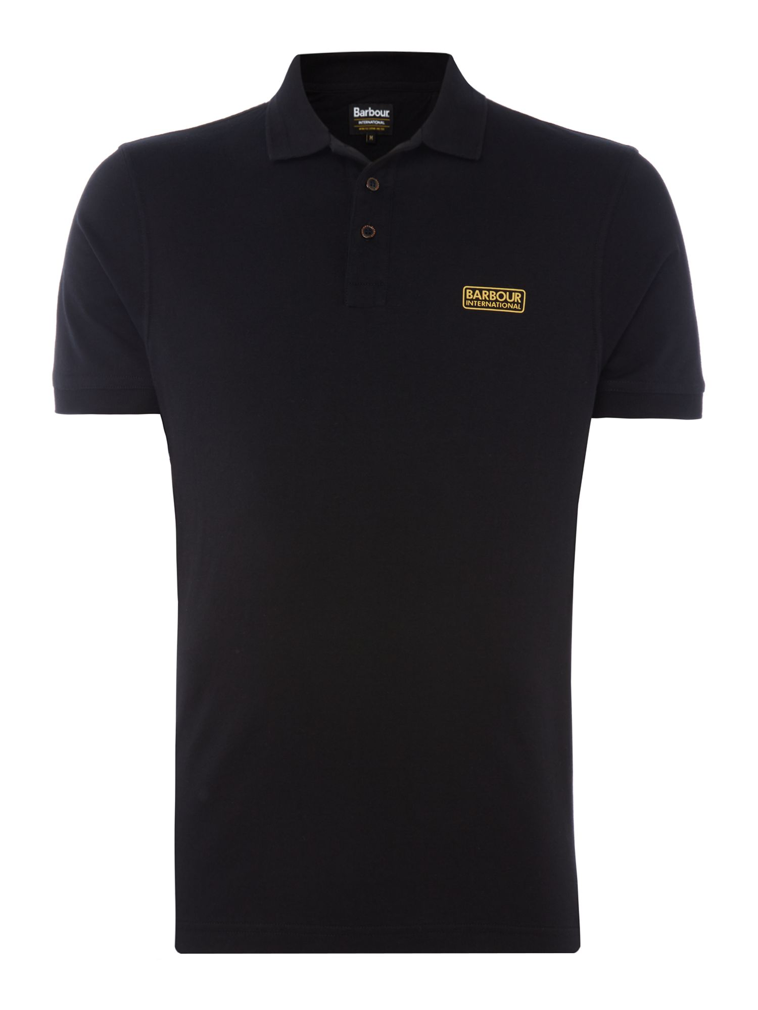Men's Barbour Kick short sleeve polo, Black