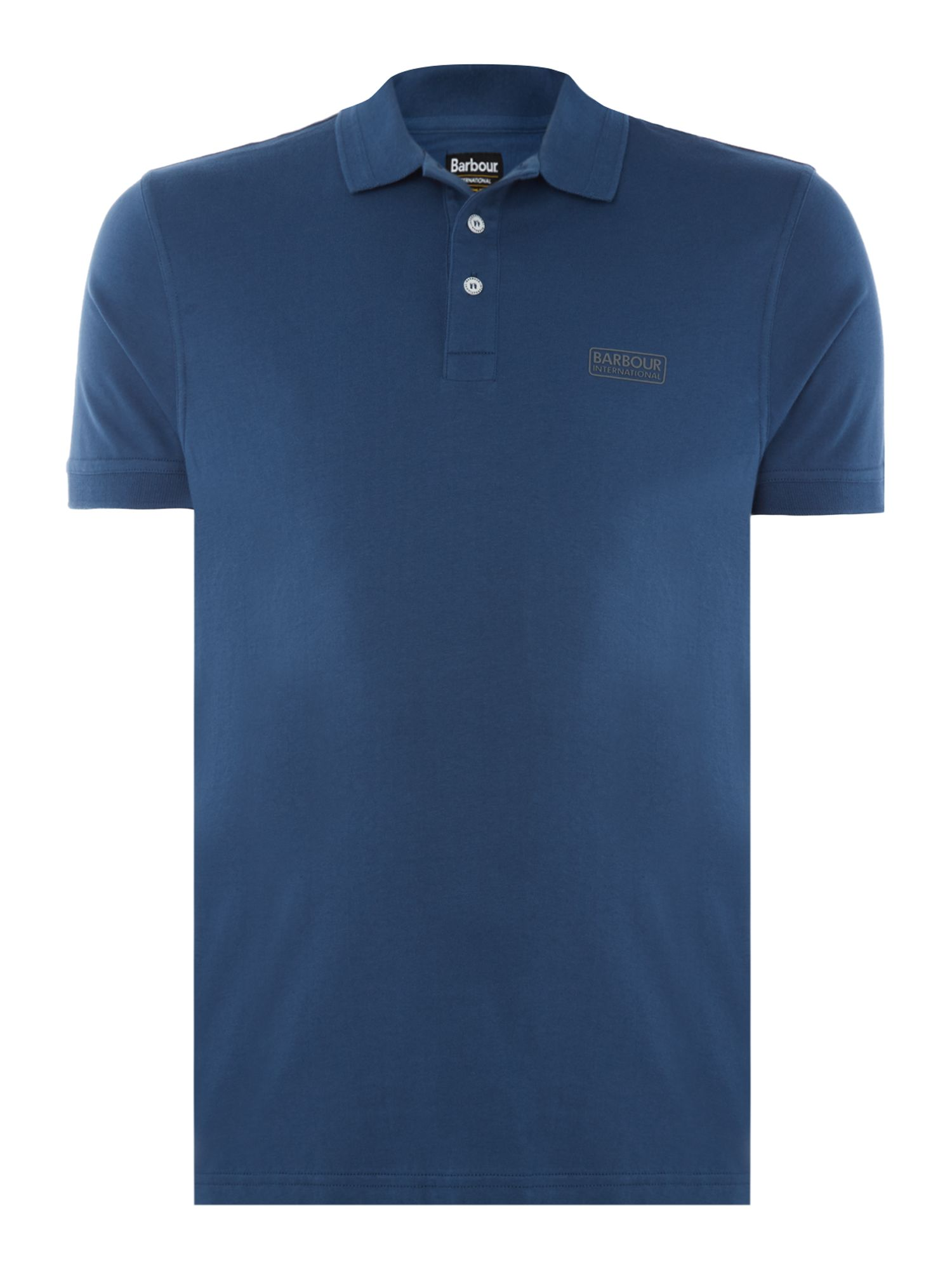 Men's Barbour Kick short sleeve polo, Mid Blue