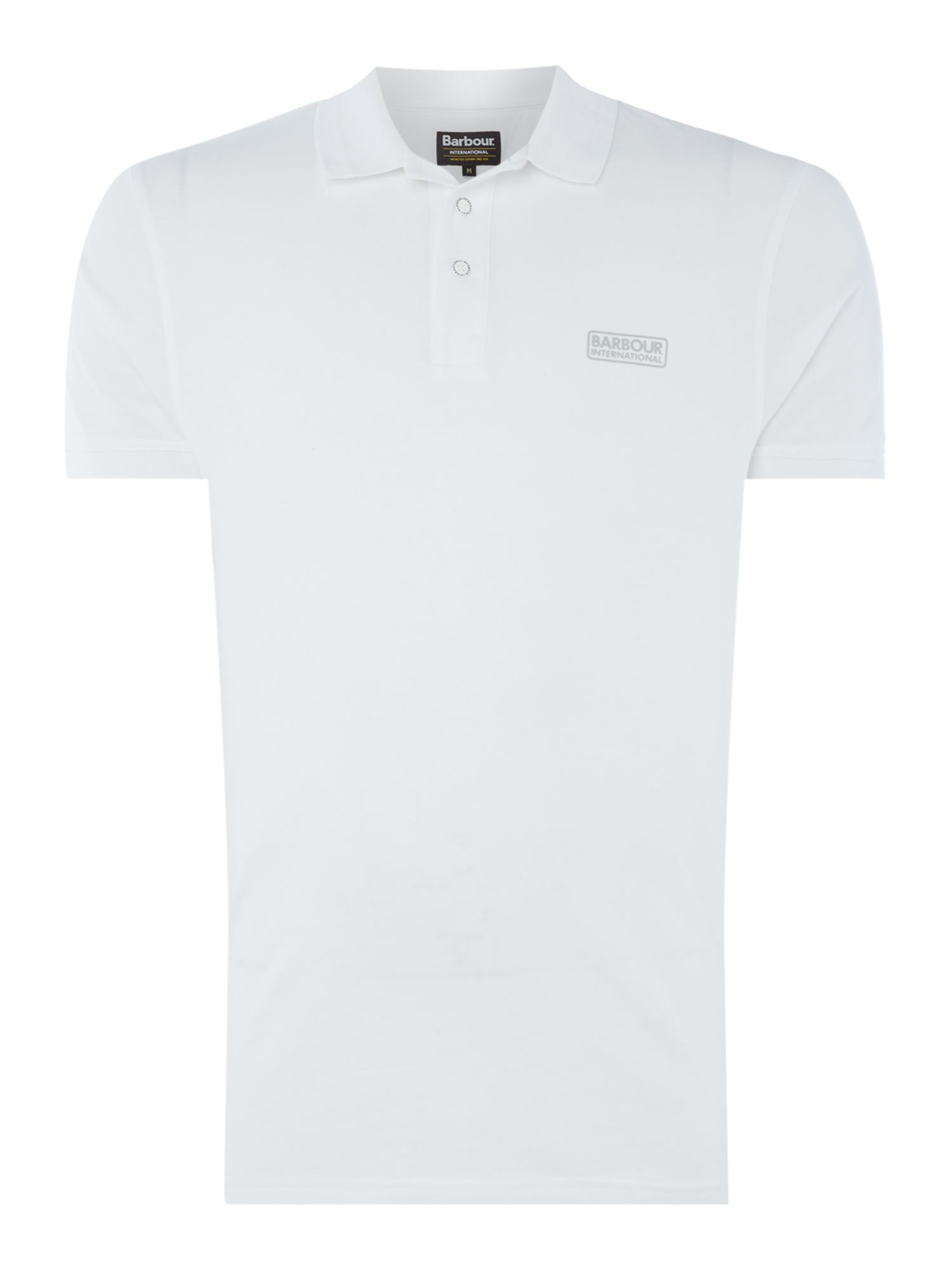 Men's Barbour Kick short sleeve polo, White