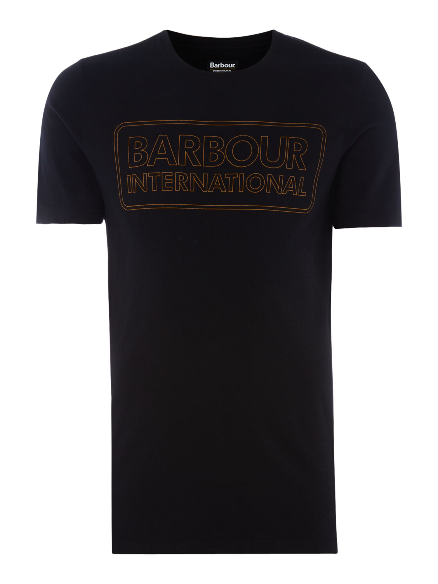 Men's Barbour Duke race short sleeve tshirt, Black