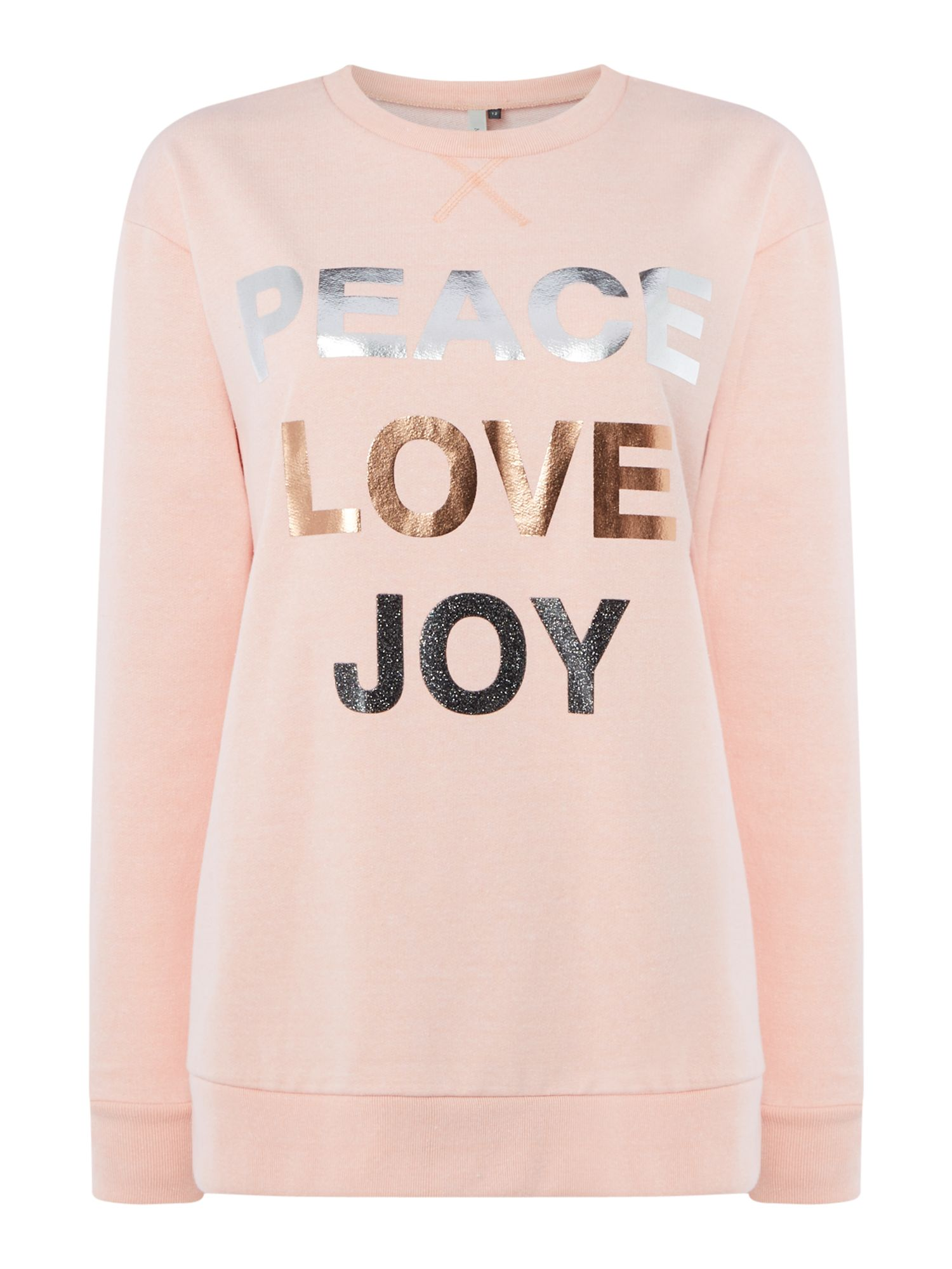 Maison De Nimes Peace Love Joy Sweat, Pink