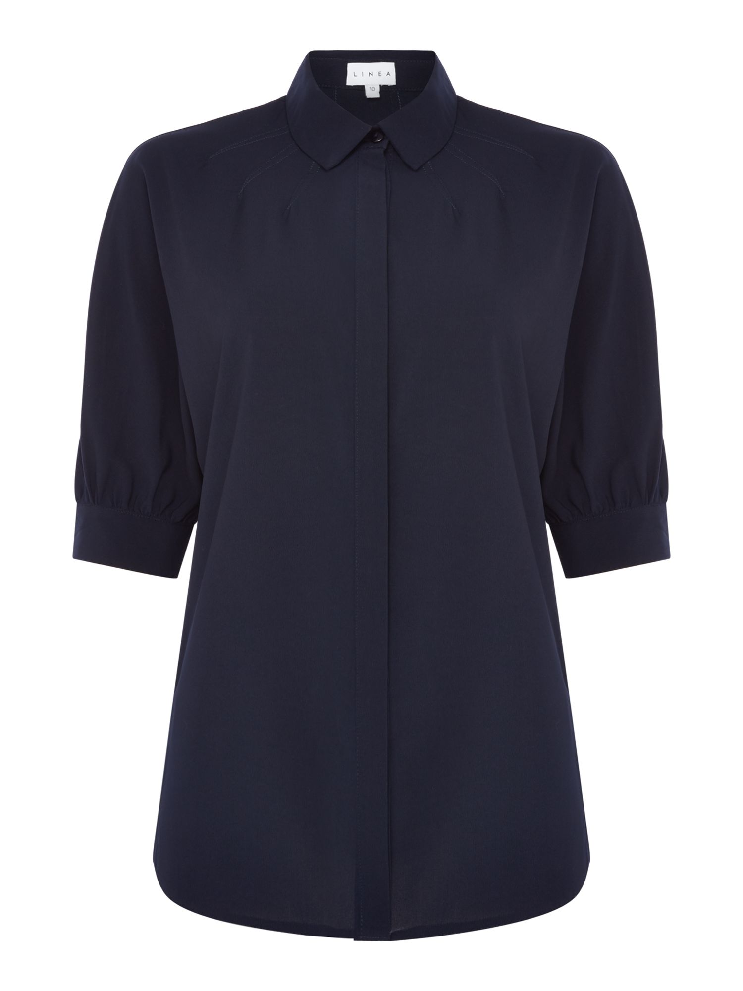 Linea Mason yoke detail shirt, Blue